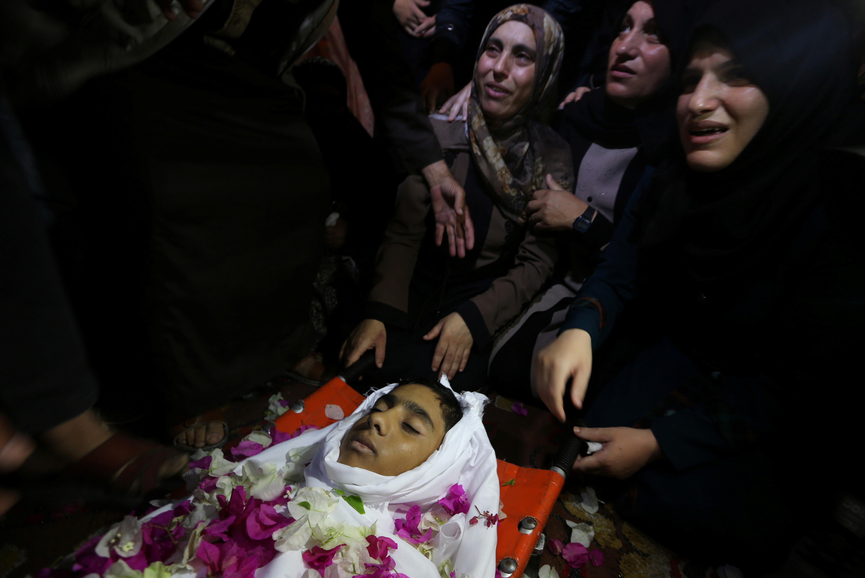 جثمان الشهيد الفلسطينى هيثم الجمل