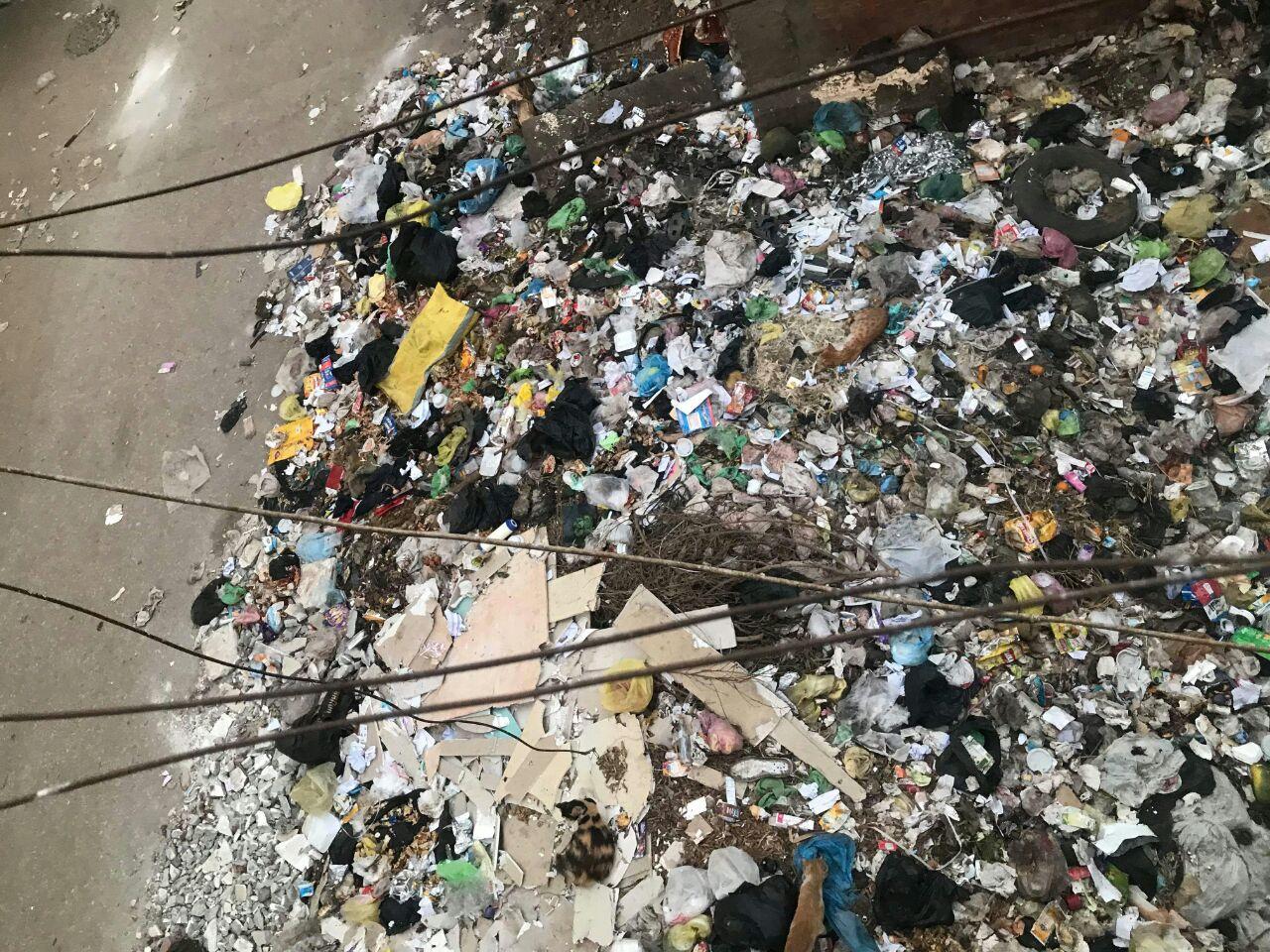 القمامة بجوار الوحدة الصحية بمنطقة الورش (3)