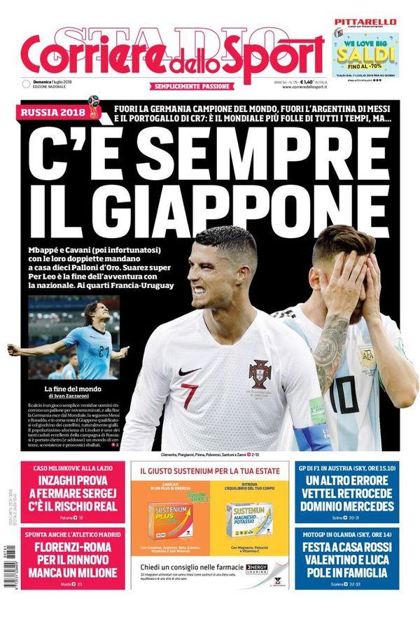 غلاف صحيفة كوريري ديللو سبورت الايطالية