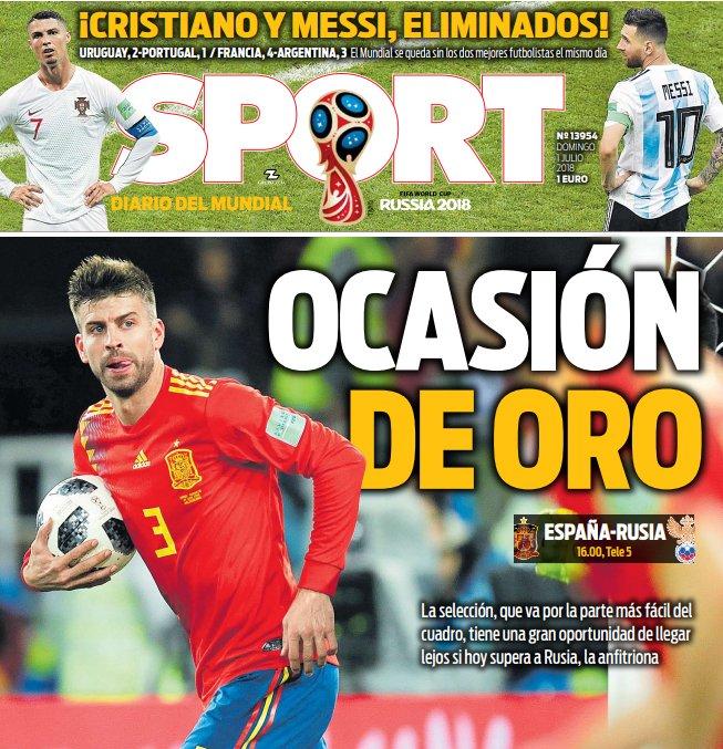 غلاف صحيفة سبورت الاسبانية