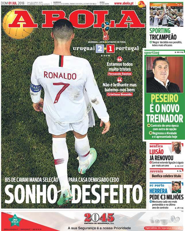 غلاف صحيفة أبولا البرتغالية
