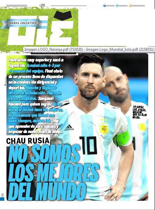 غلاف صحيفة أوليه الارجنتينية