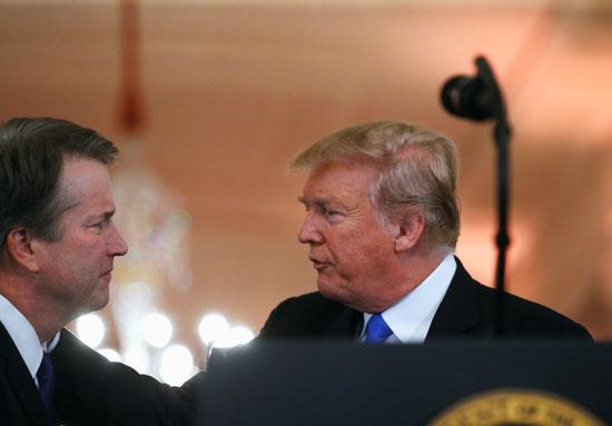ترامب والقاضى المحافظ بريت كافانو
