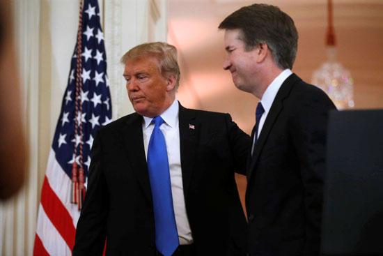 استقبال ترامب للقاضى المحافظ بريت كافانو