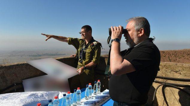 ليبرمان على الحدود السورية