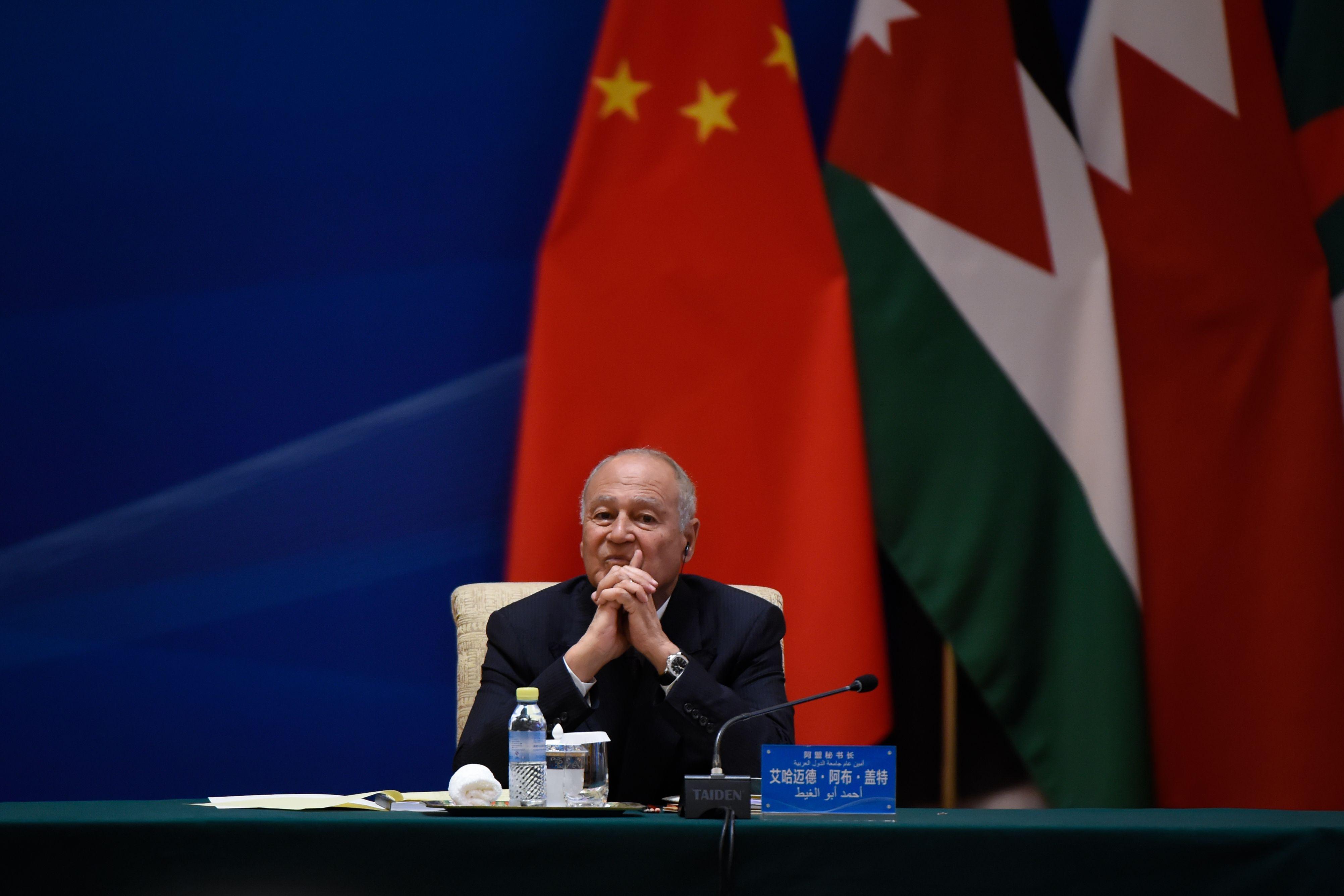 أمين عام جامعة الدول العربية خلال انعقاد المنتدى الصينى العربى