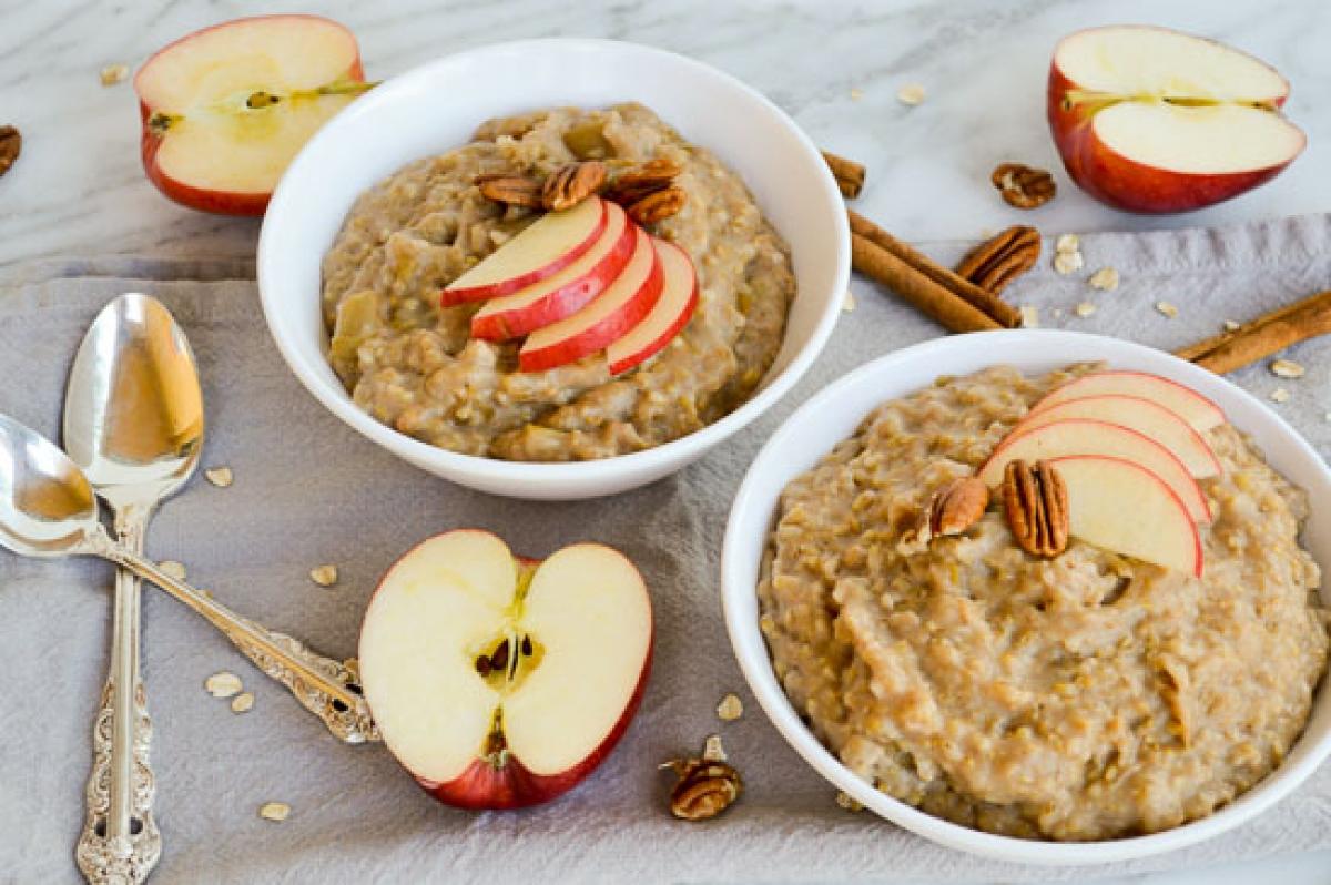 الشوفان والتفاح فى وجبة الافطار