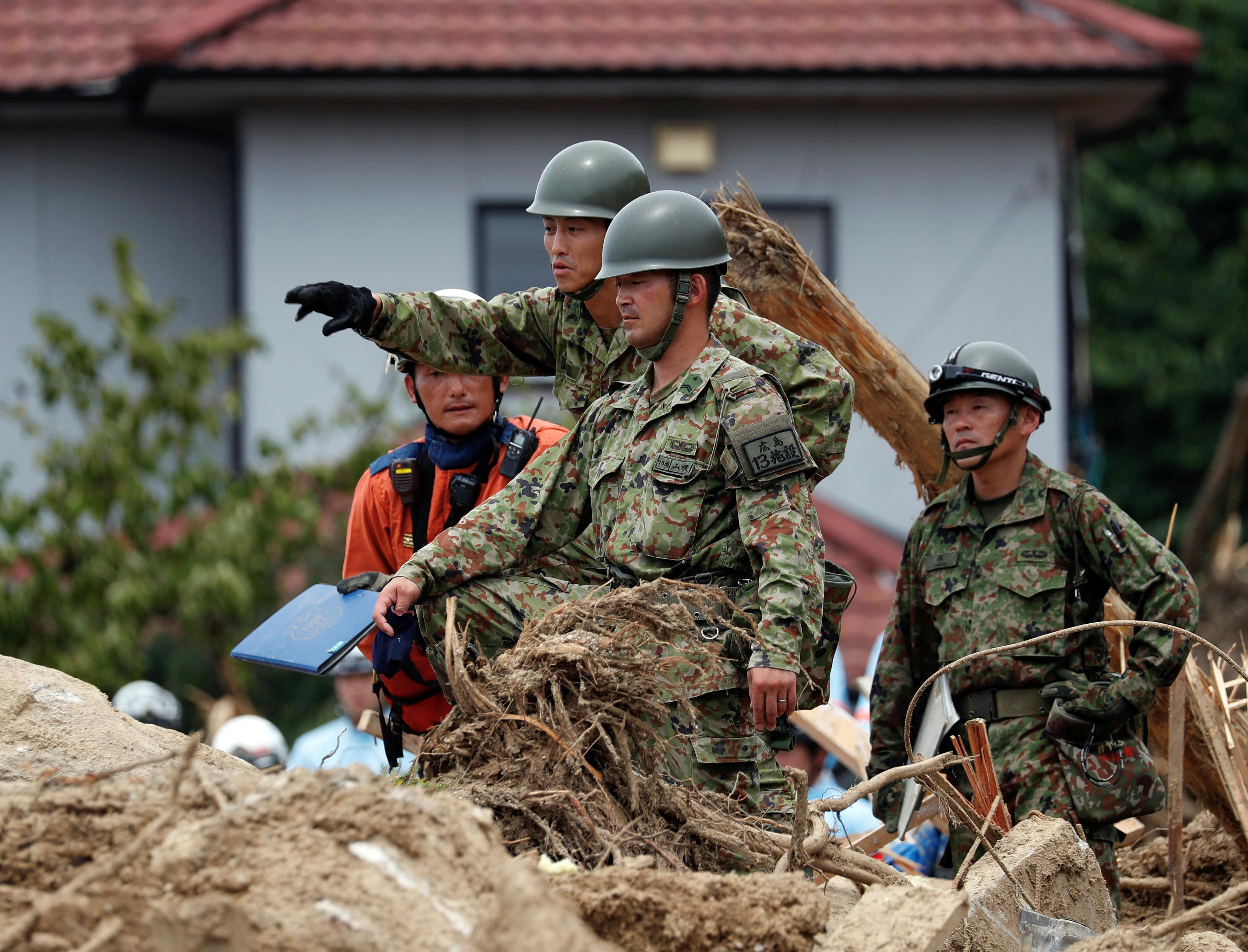 قوات الجيش اليابانى