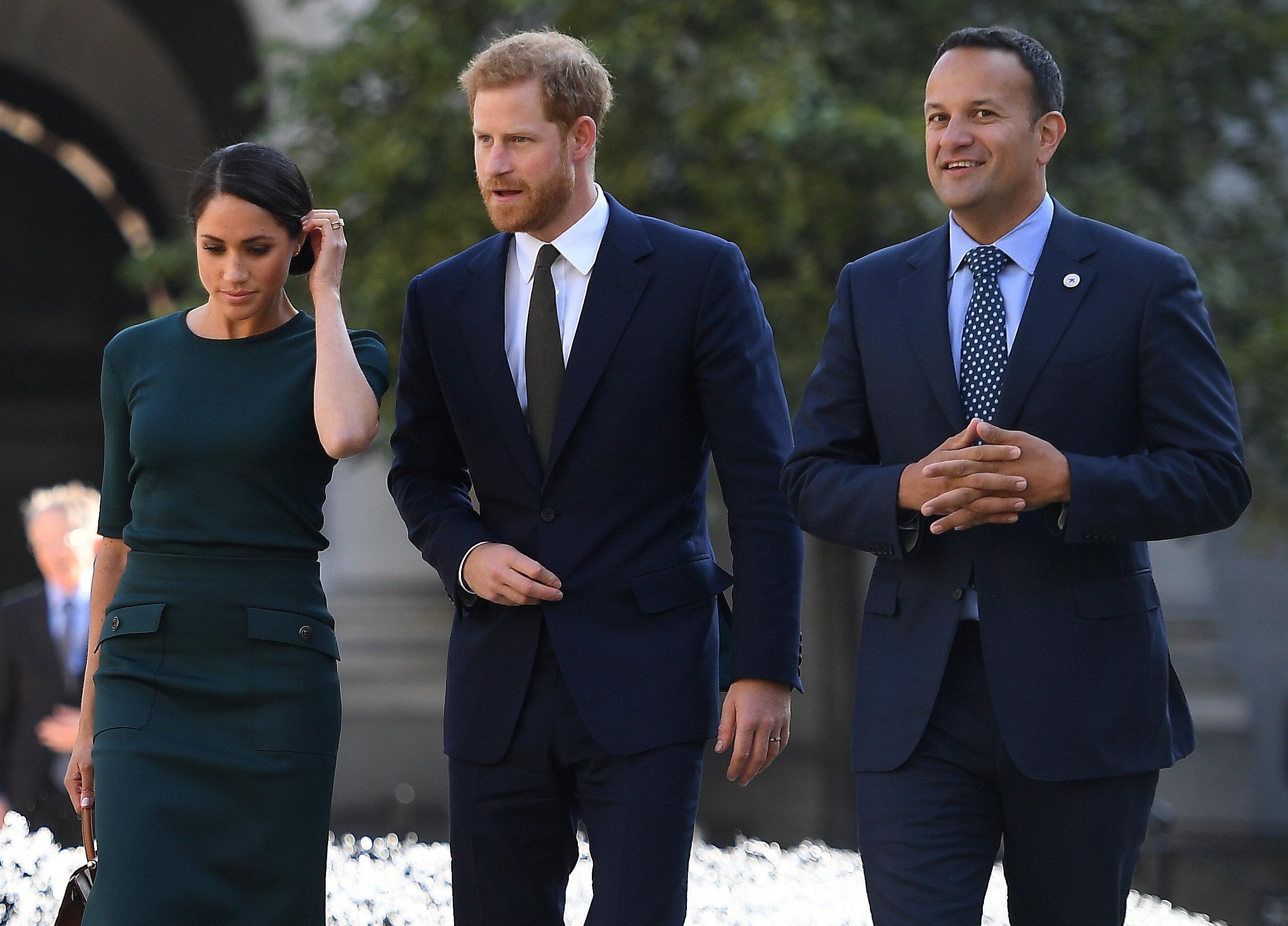 جانب من وصول الأمير هارى وزوجته ميجان ماركل