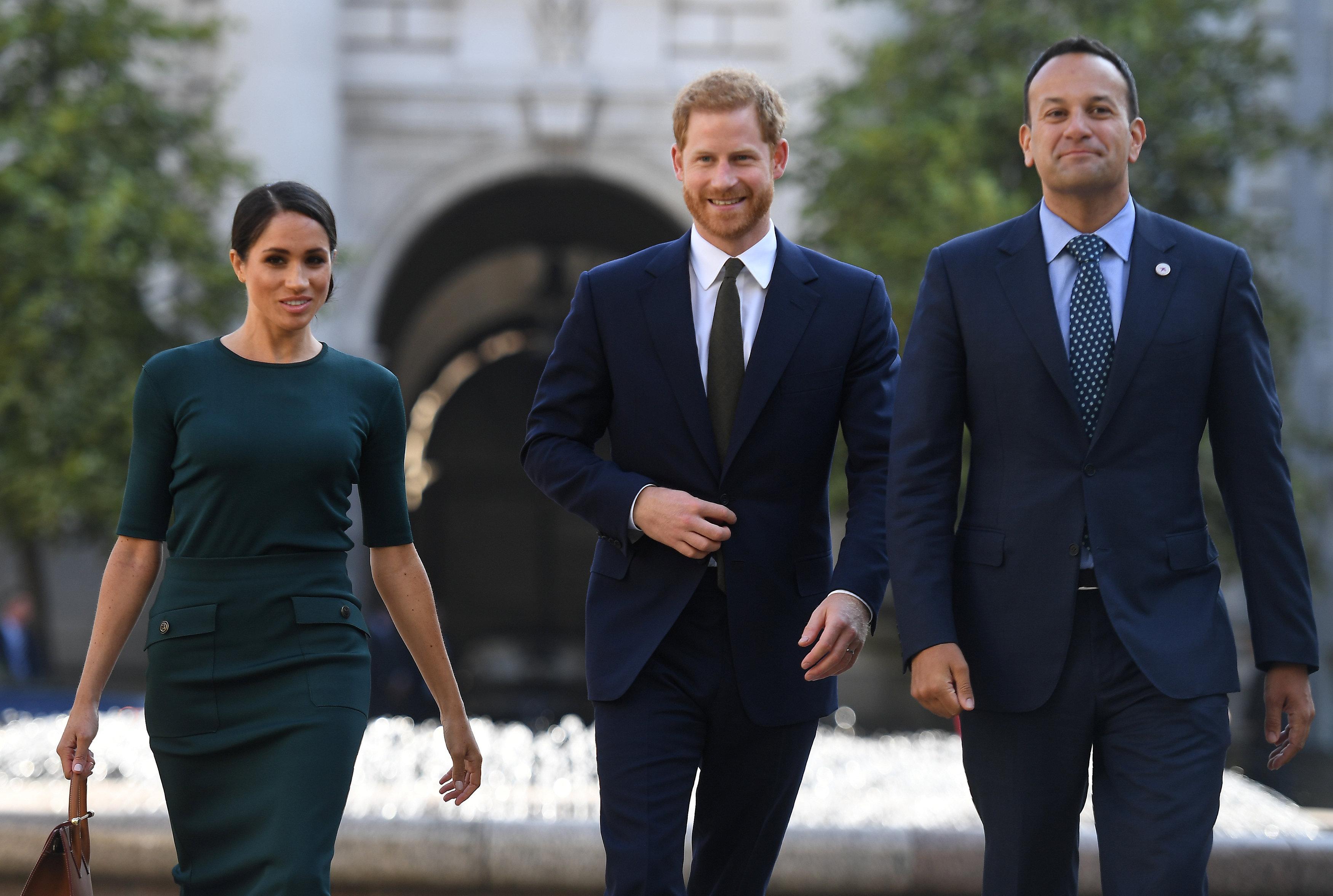 استقبال الأمير هارى وزوجته ميجان ماركل