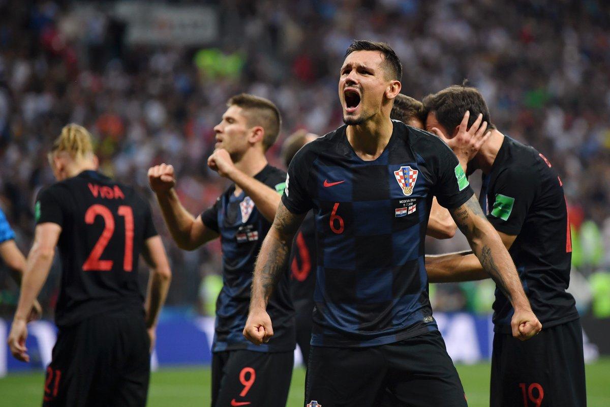 فرحة لاعبى كرواتيا بعد التاهل لنهائي كاس العالم