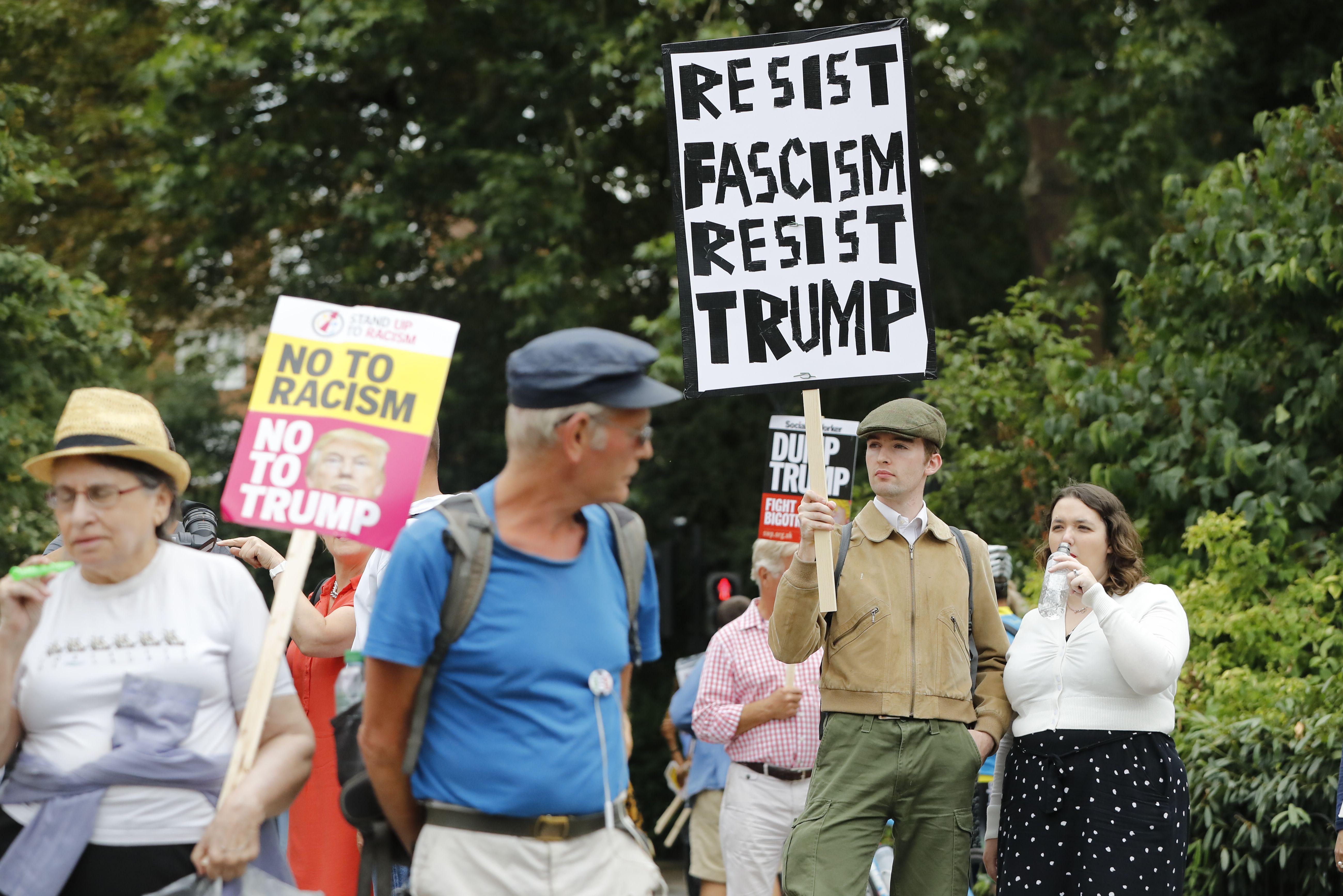 احتجاجات ضد ترامب فى لندن