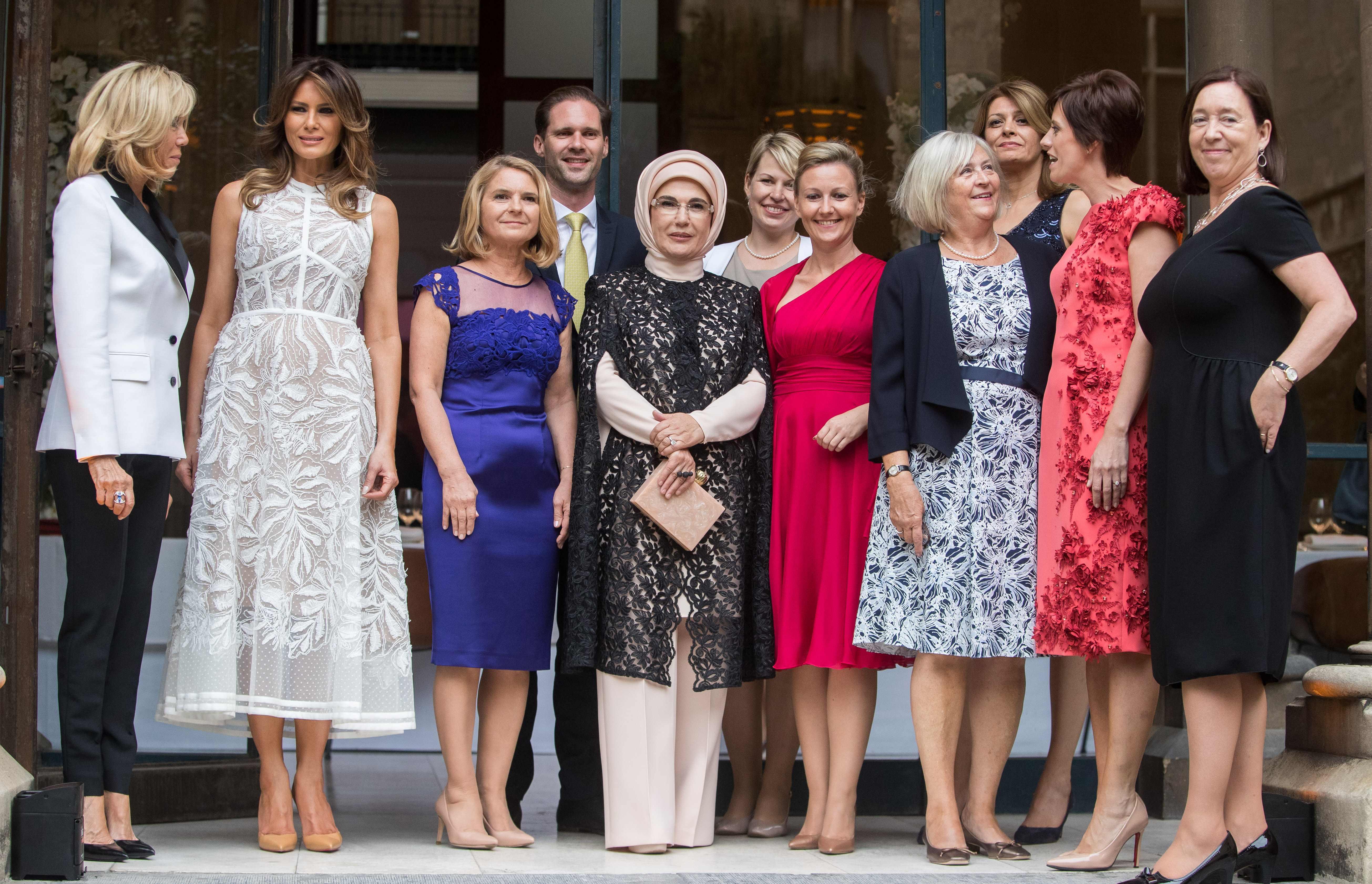 زوجات زعماء قمة الناتو