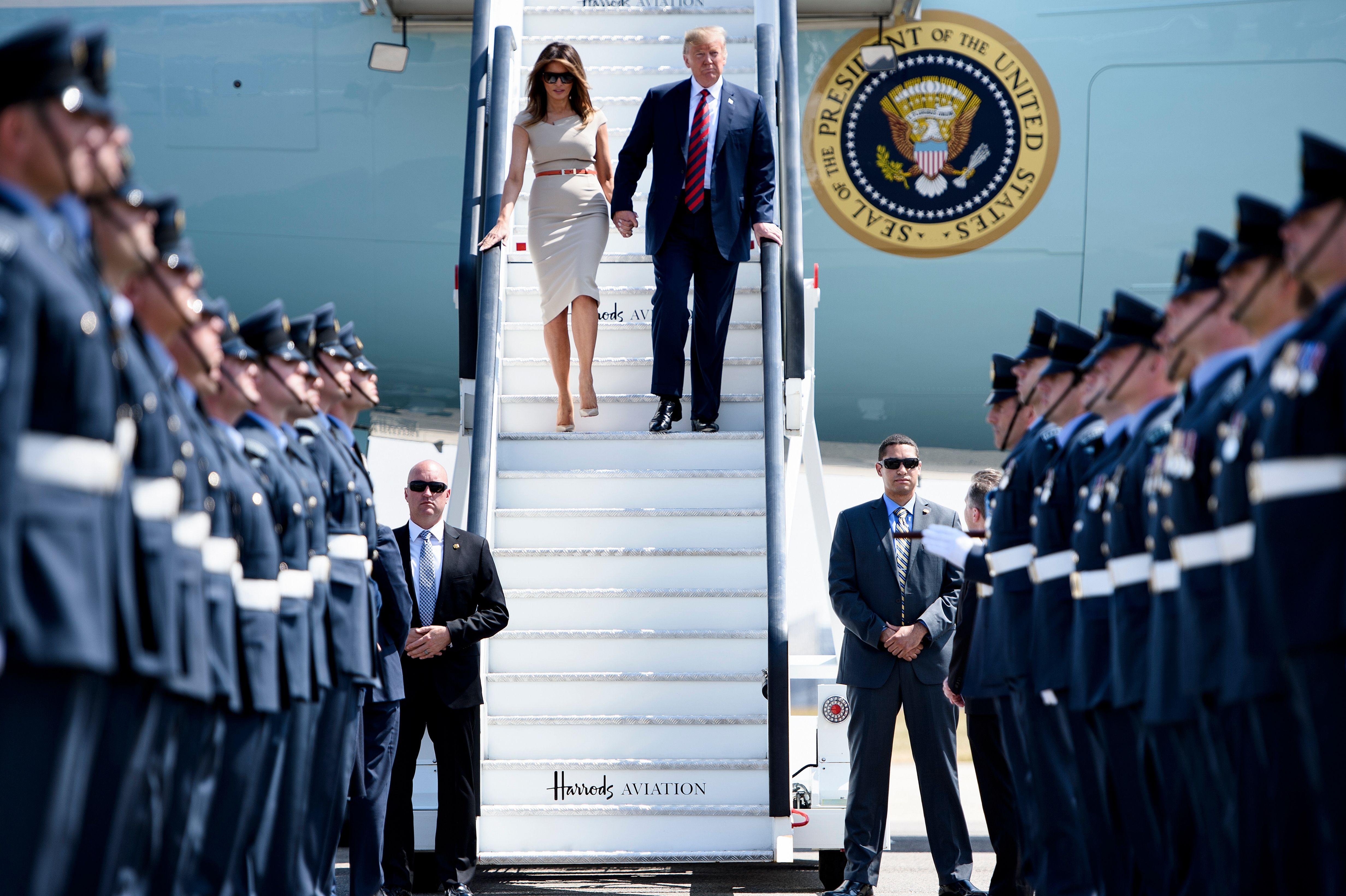 وصول ترامب إلى لندن