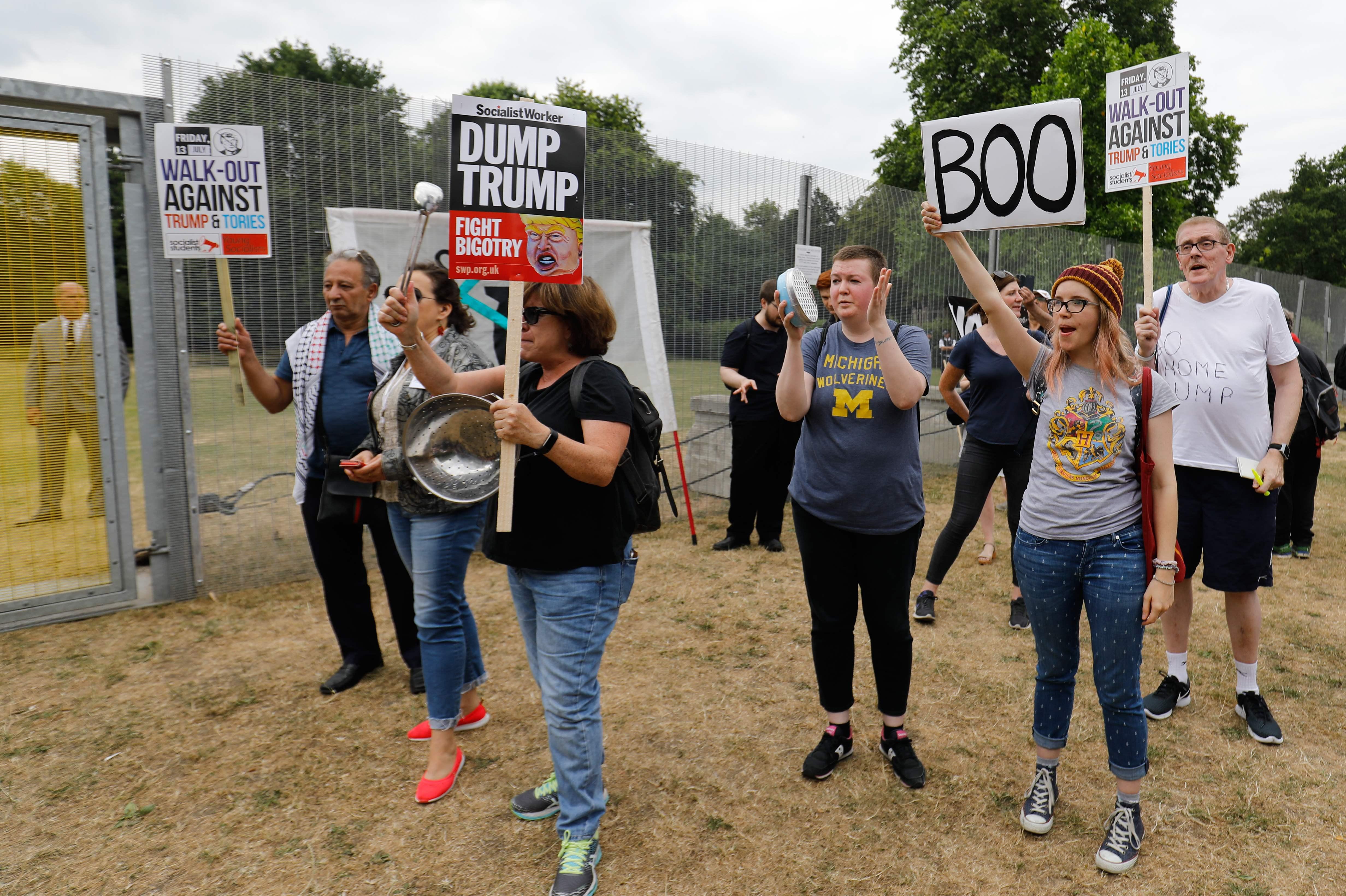 احتجاجات فى لندن ضد زيارة ترامب إلى بريطانيا