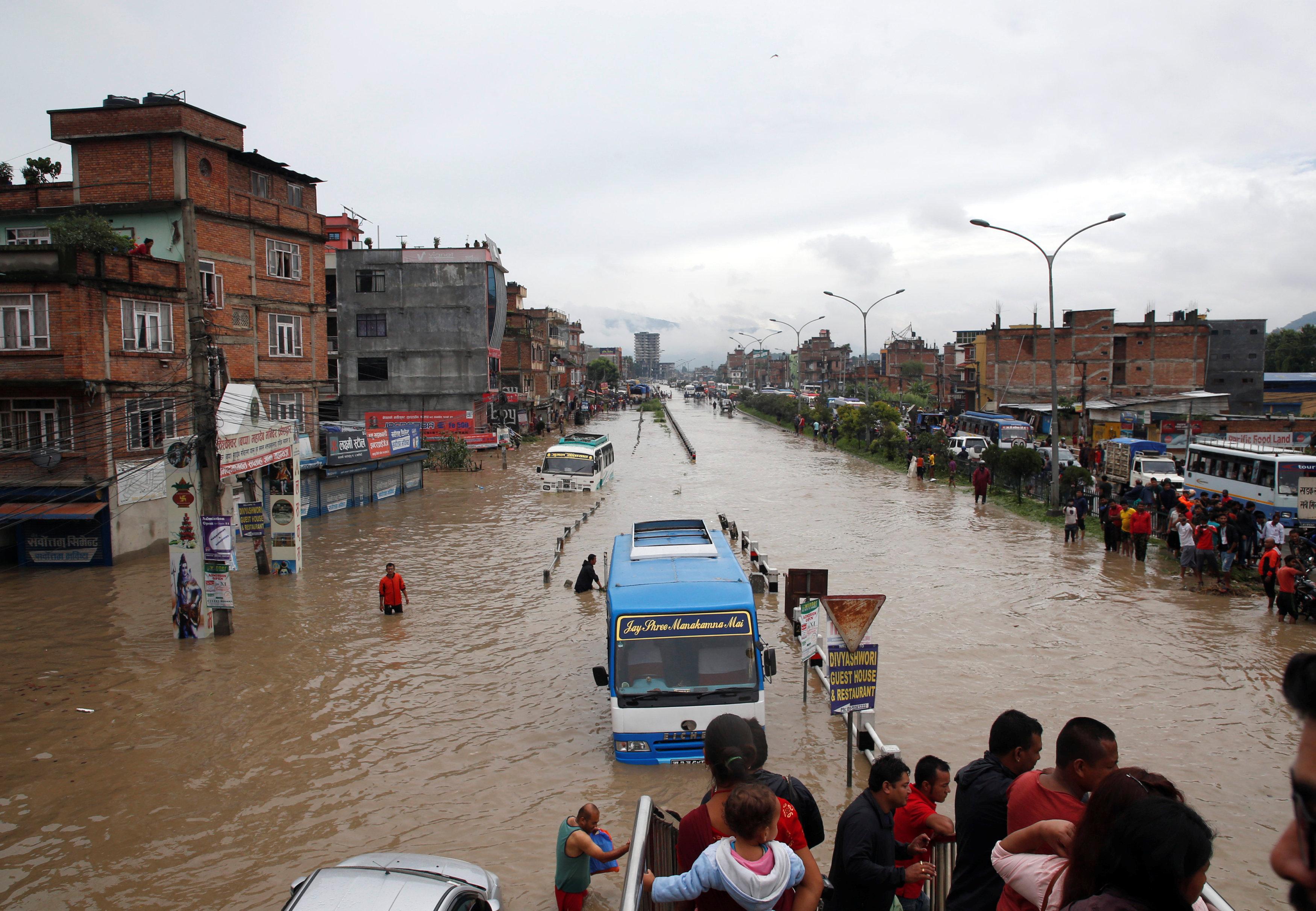 فيضانات فى نيبال