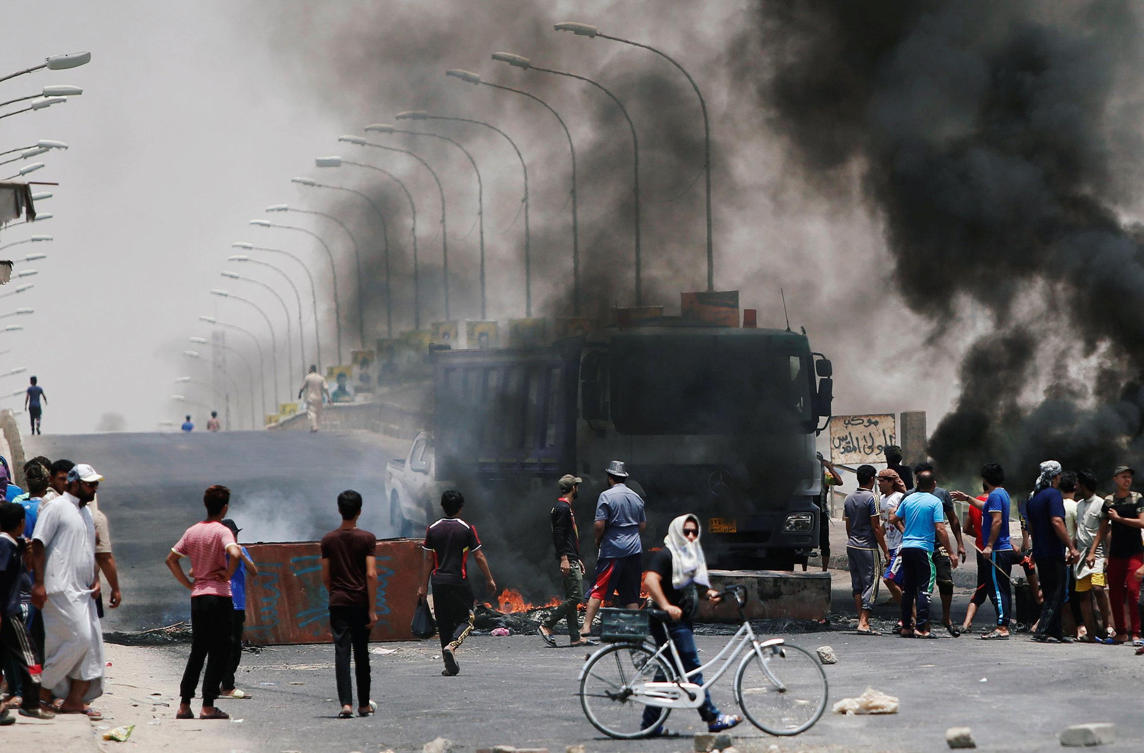 جانب من احتجاجات فى العراق