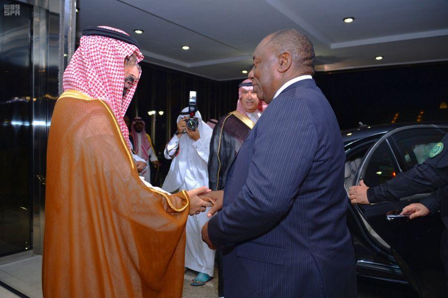 استقبال رئيس جنوب أفريقيا في جدة