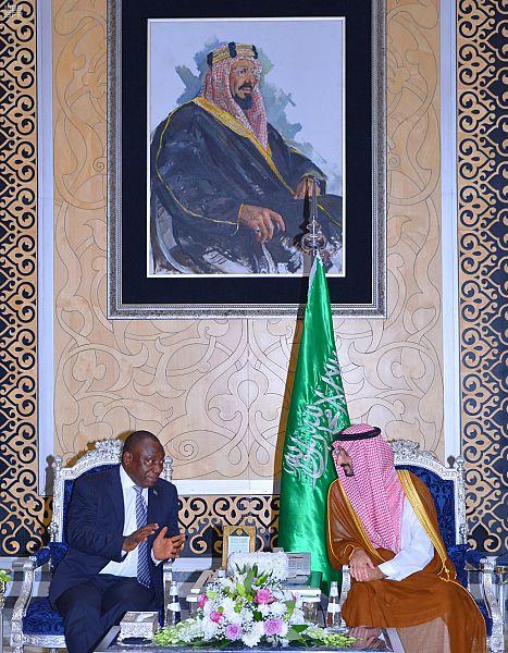 نائب أمير منطقة مكة المكرمة مع رئيس جنوب أفريقيا