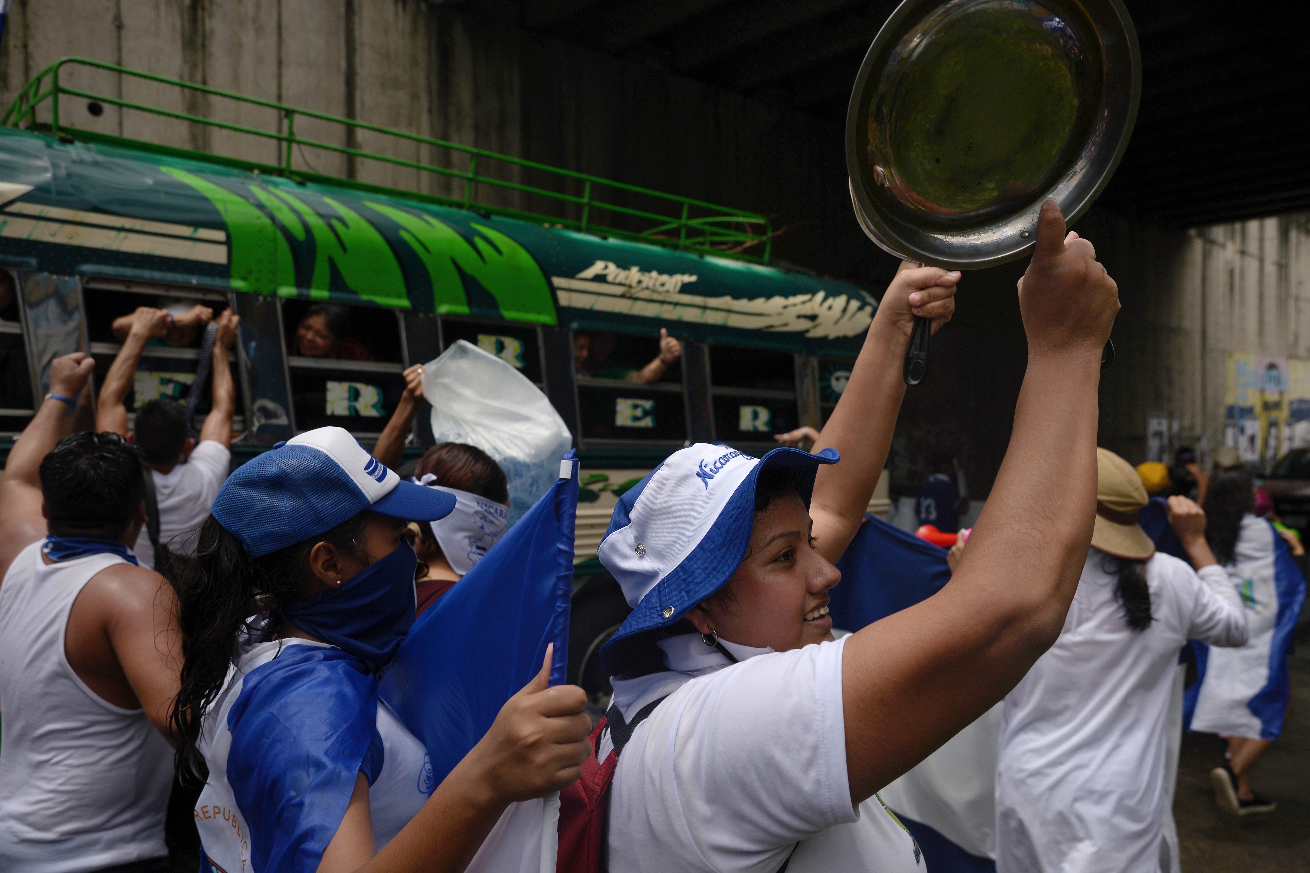 مظاهرات بالحلل فى نيكاراجوا