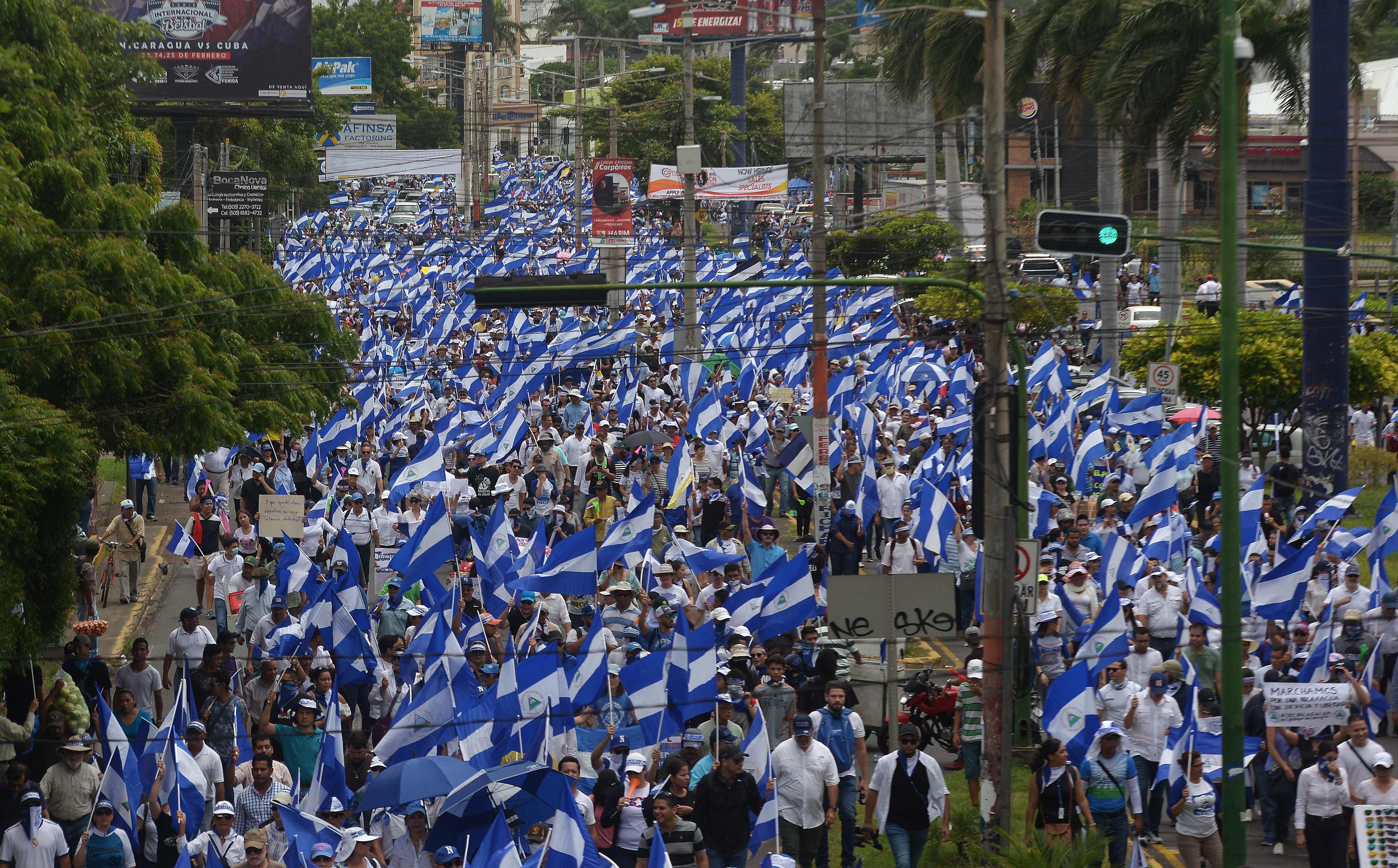 الآلاف يخرجون فى مظاهرات بنيكاراجوا