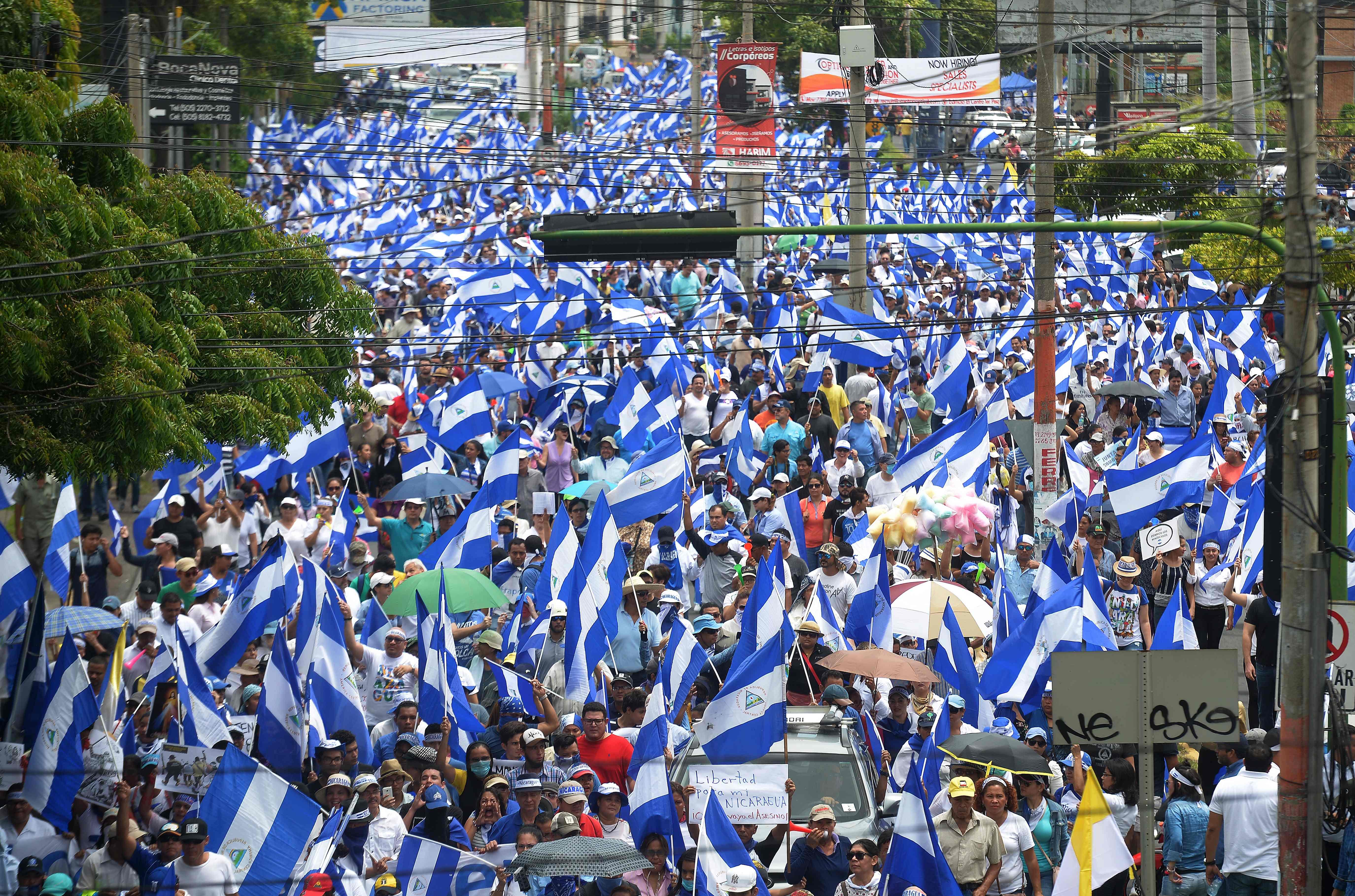 الآلاف يحتجون فى نيكاراجوا