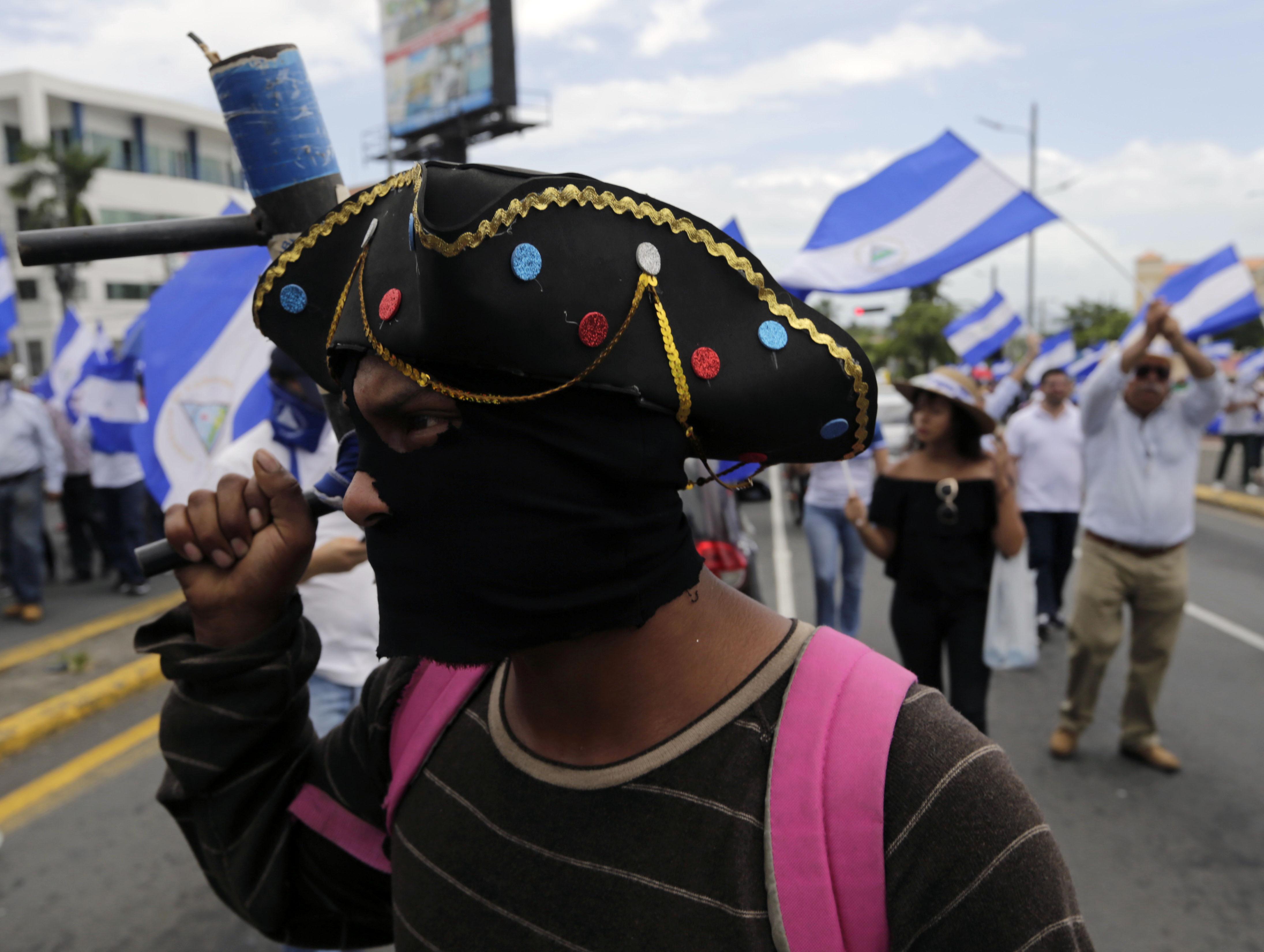 جانب من الفاعليات الاحتجاجية فى نيكاراجوا