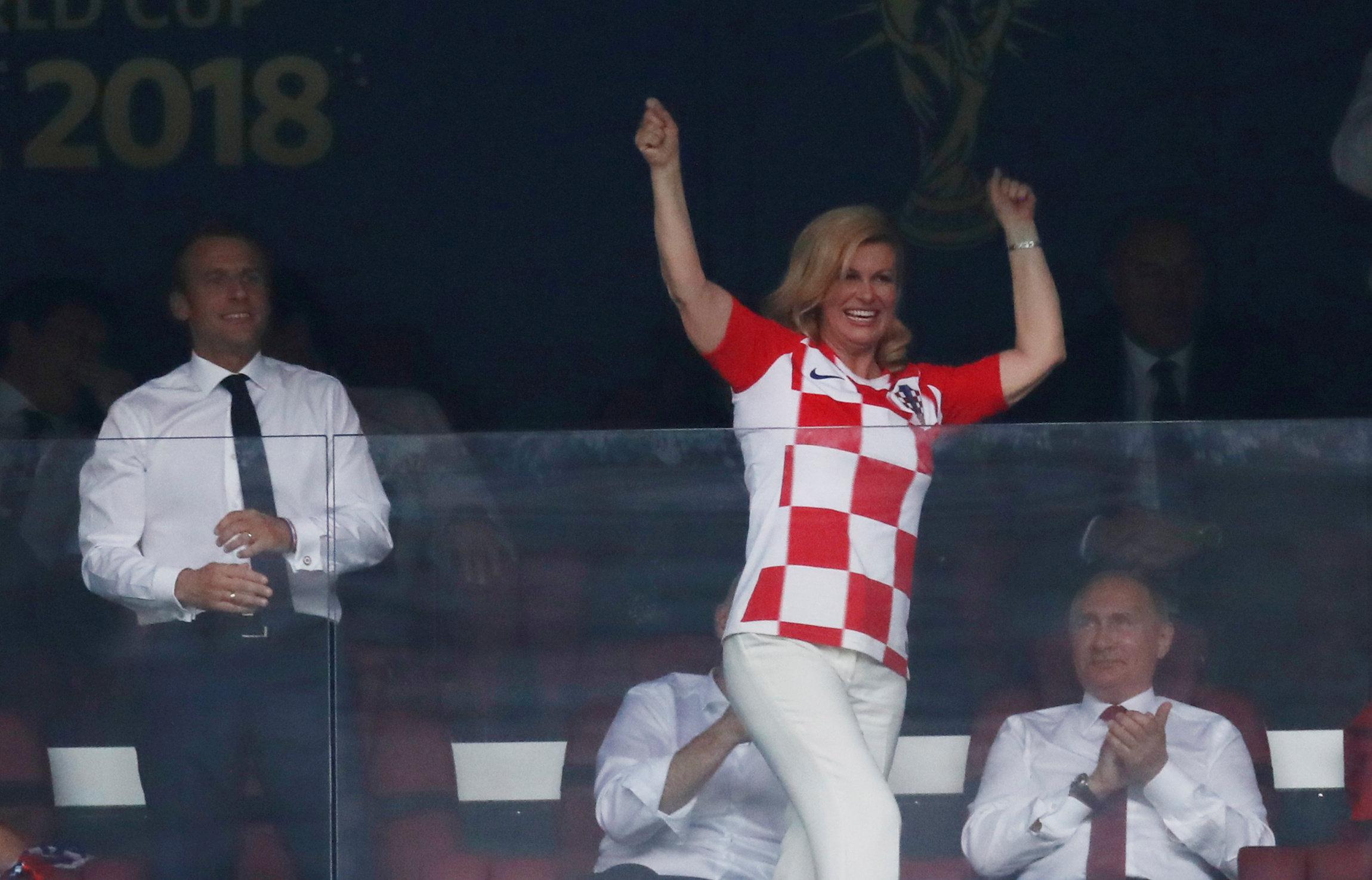 فرحة رئيسة كرواتيا