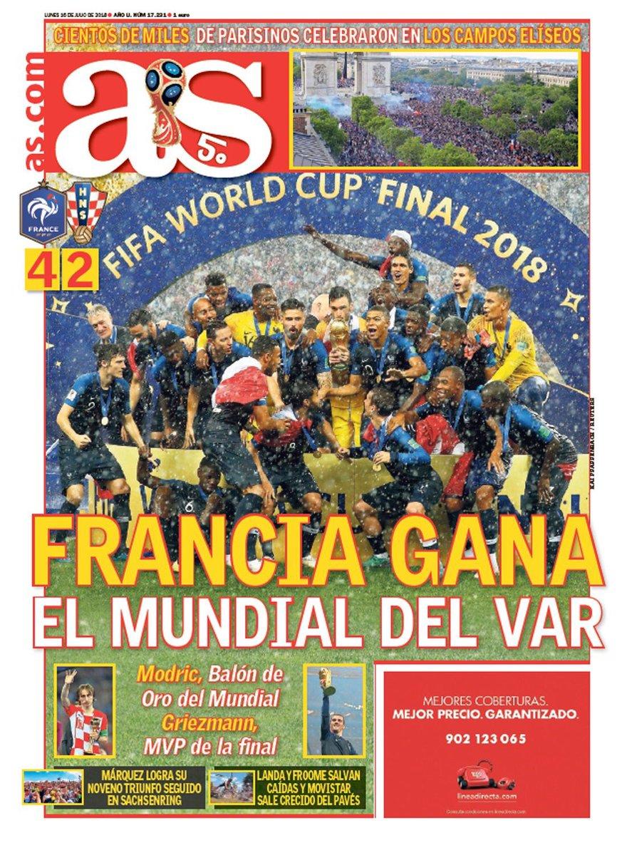 غلاف صحيفة اس الاسبانية