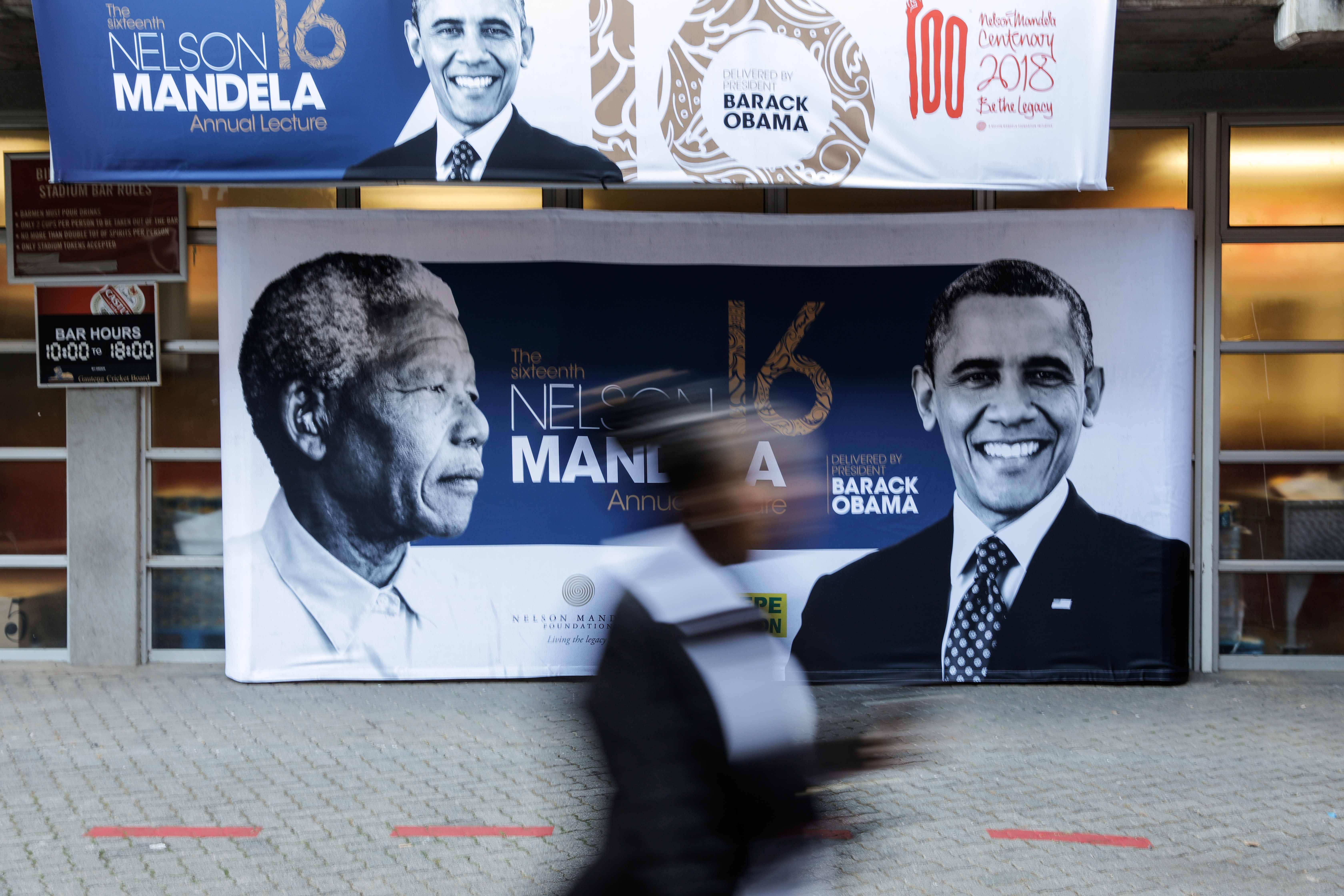 أوباما ونيلسون مانديلا
