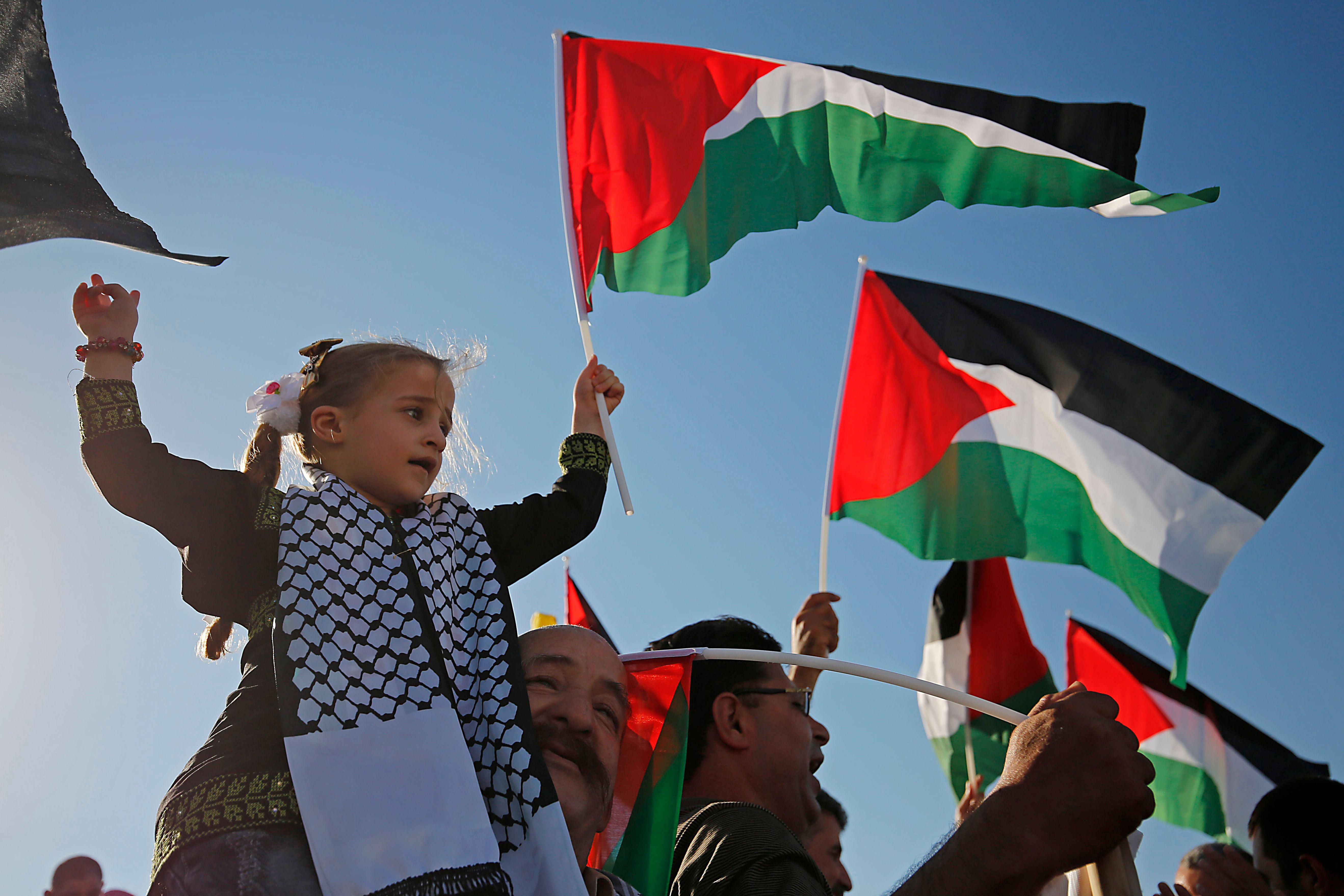 طفلة تشارك فى المظاهرات