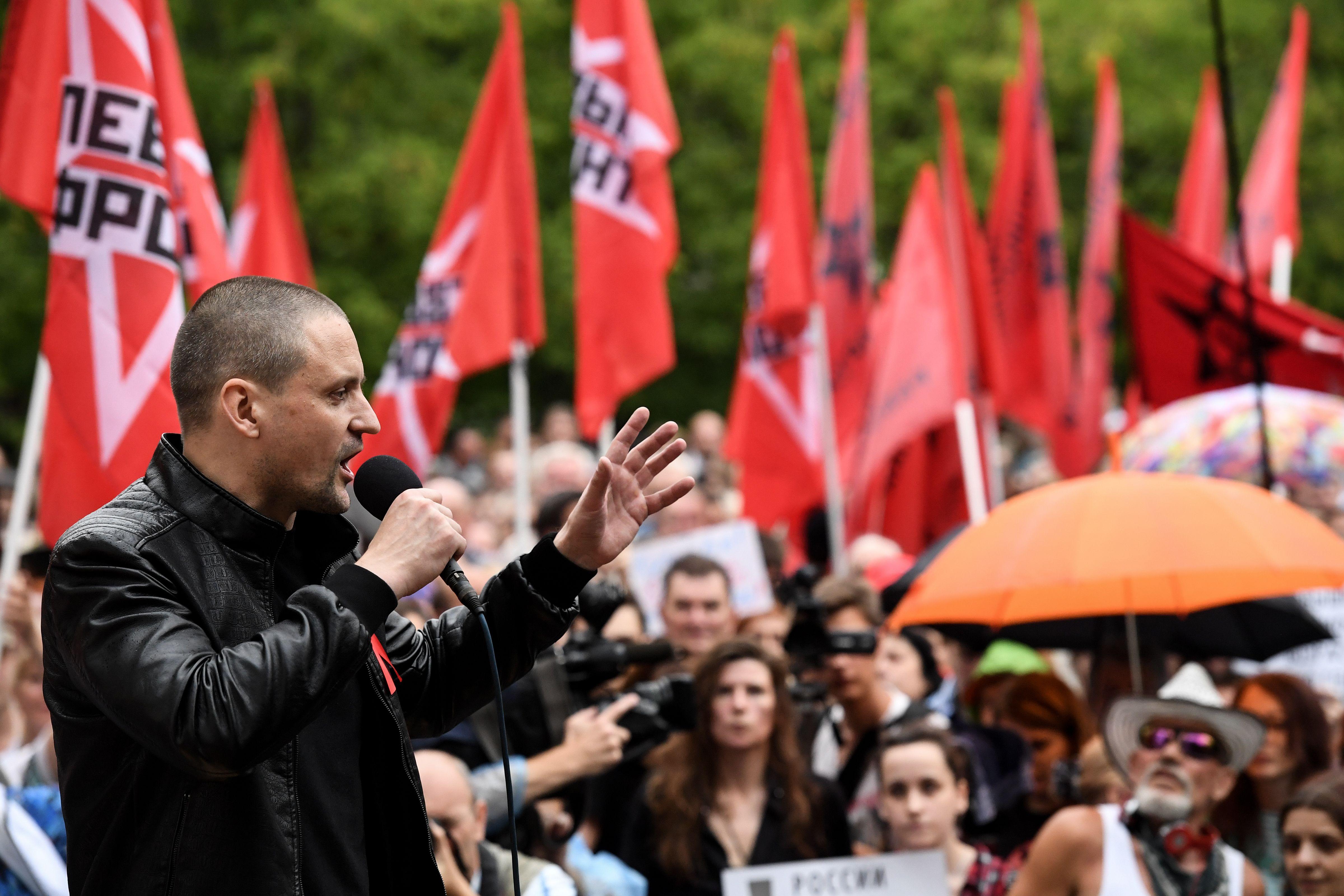 مظاهرة فى موسكو