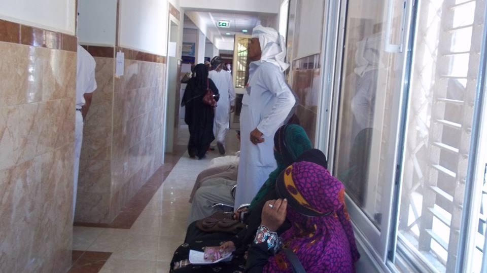 المواطنين اثناء الكشف الطبي