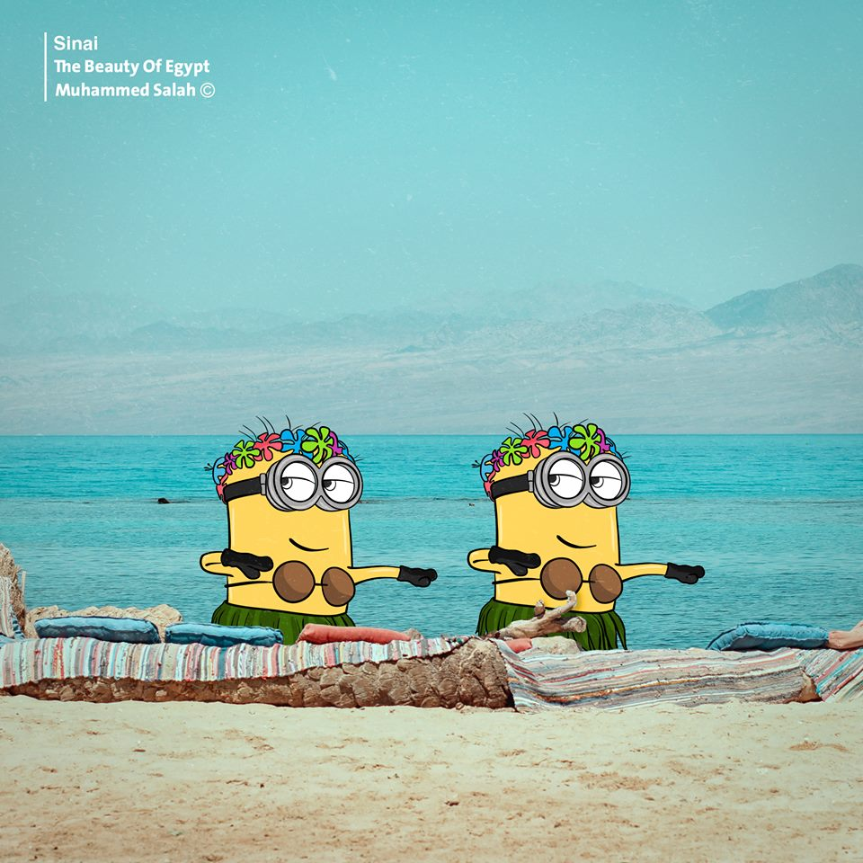 Minions يستمتعان بقضاء العطلة على شواطئ دهب