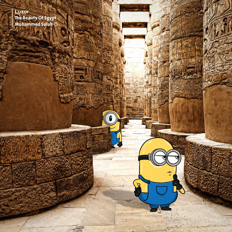 Minions فى جولة داخل متاحف الأقصر