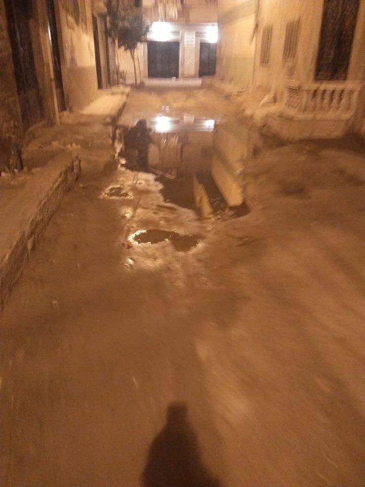 مياه الصرف فى شوارع الفلكى