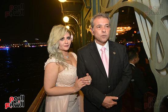 ecae35100 حفل زفاف الإعلامى توفيق عكاشة على المذيعة حياة الدرديرى بحضور الأهل ...