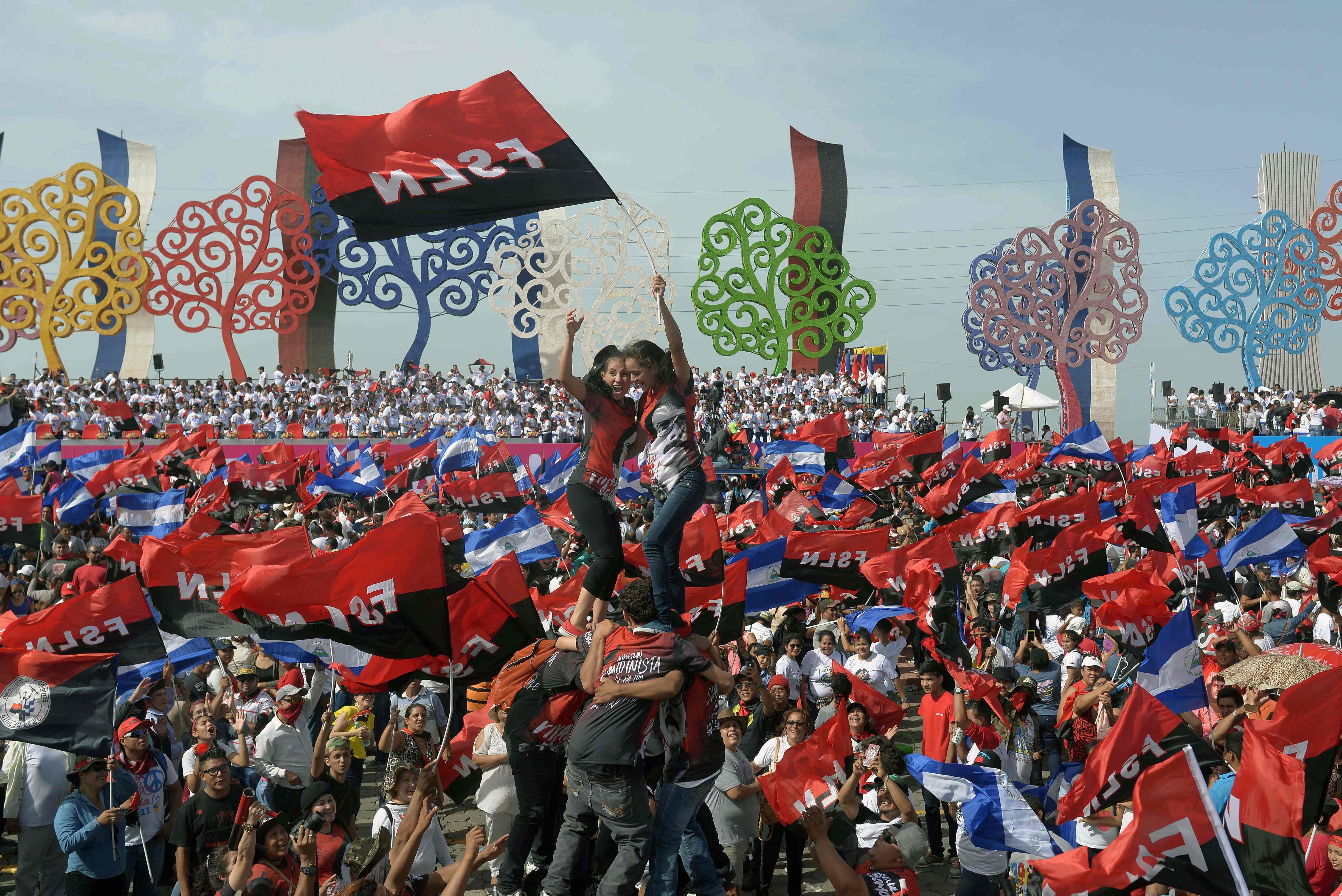 الآلاف من مؤيدى رئيس نيكاراجوا