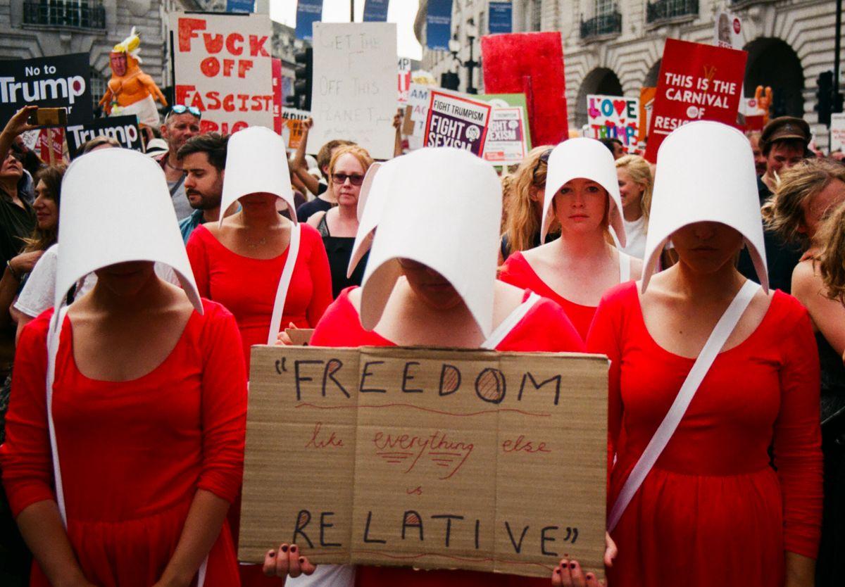 مسيرة احتجاجية ضد دونالد ترامب  فى بريطانيا