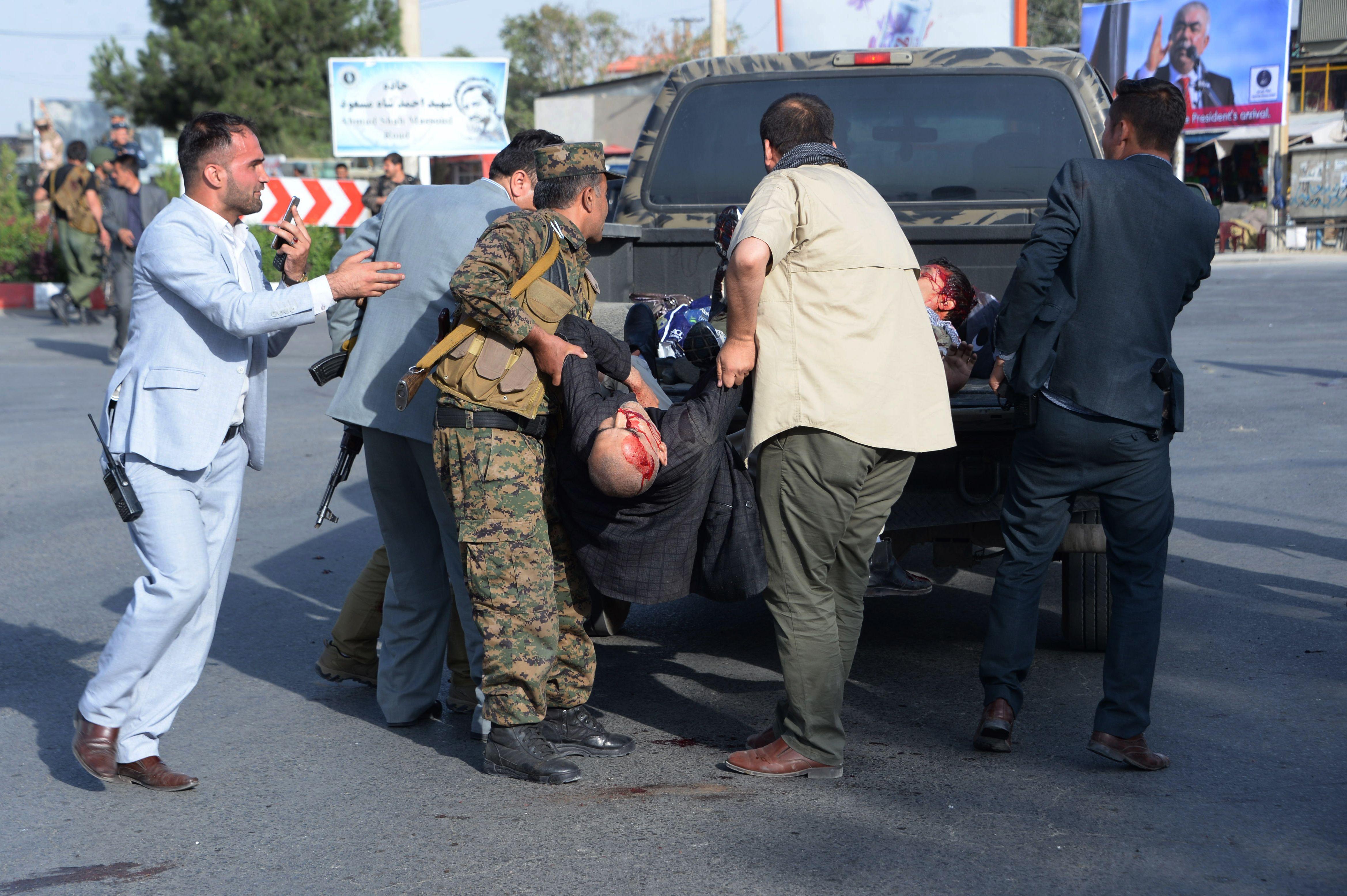 ضحايا الهجوم الانتحارى
