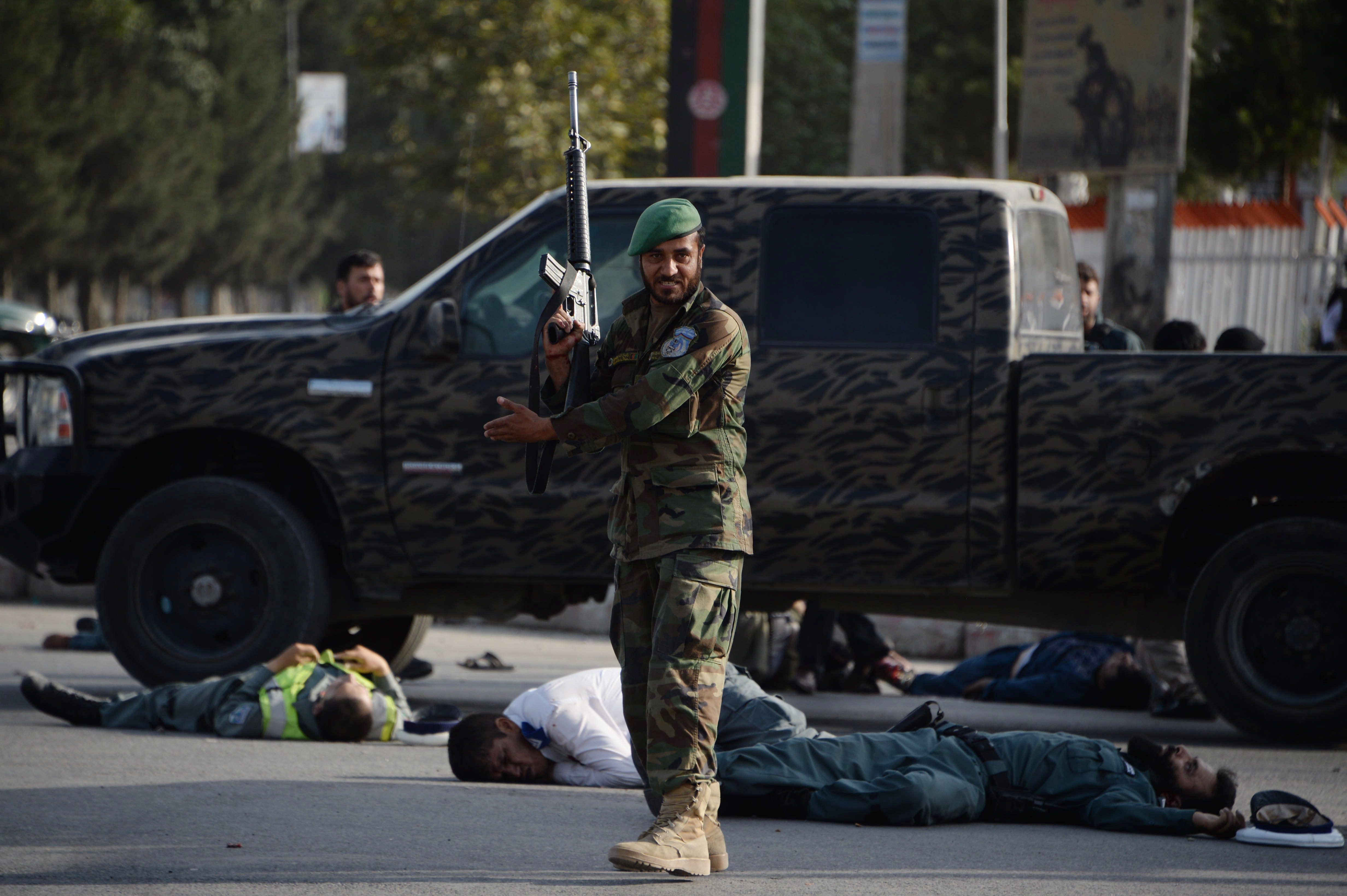 عدد من ضحايا الهجوم الانتحارى