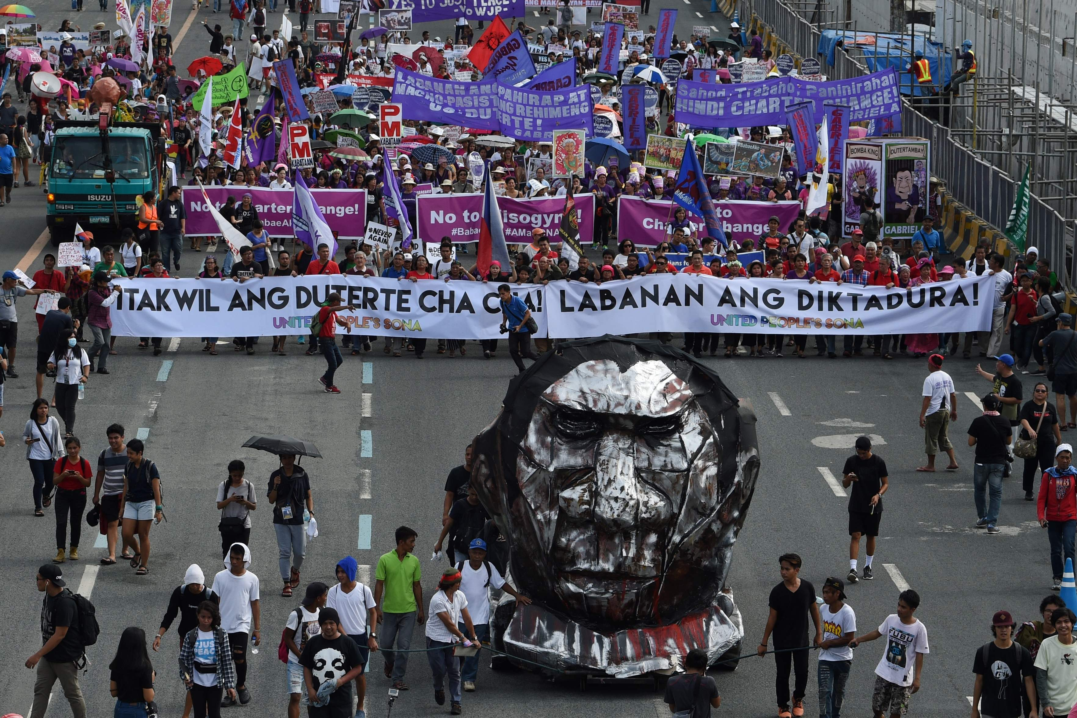 مظاهرات ضد رئيس الفلبين