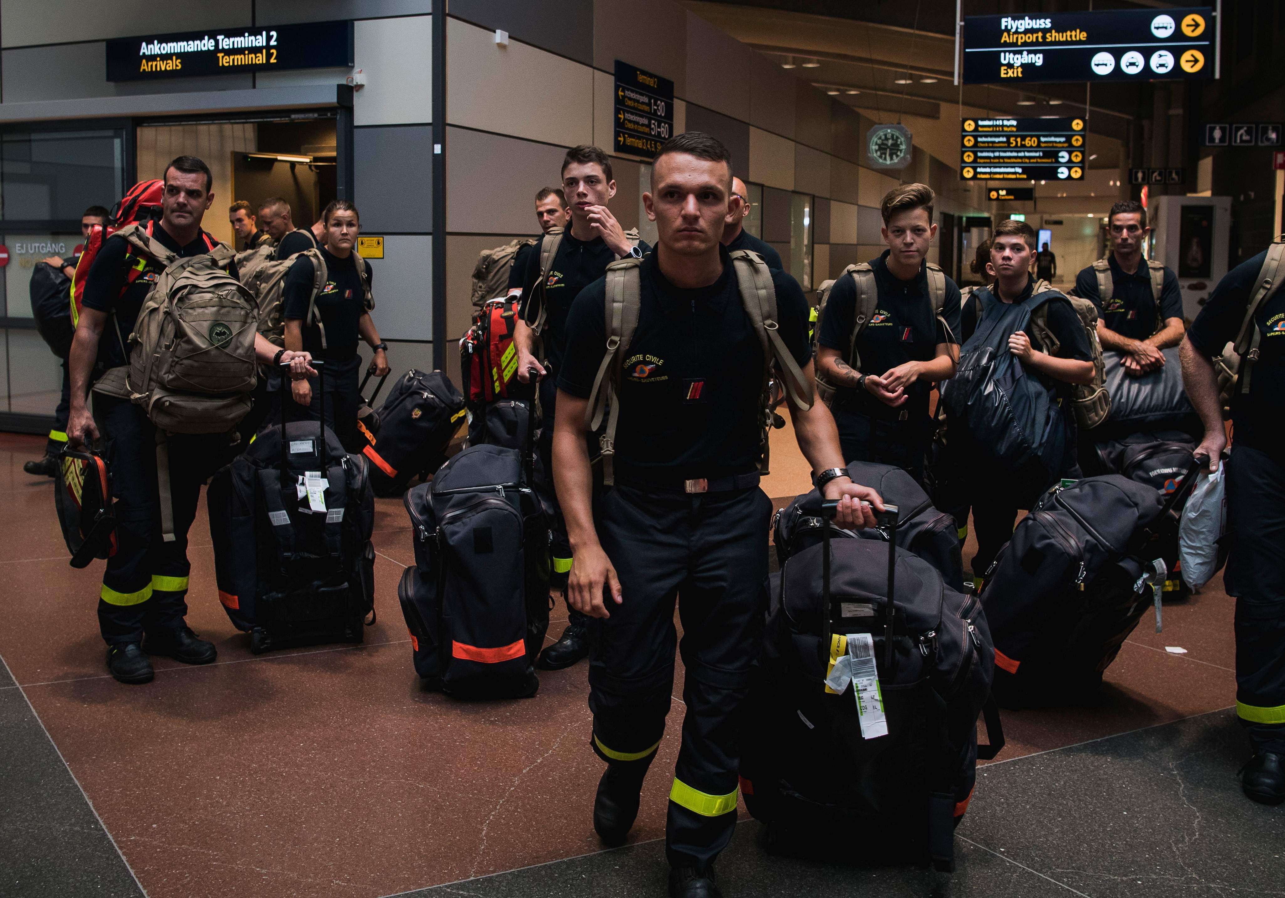 القوات المرسلة إلي السويد