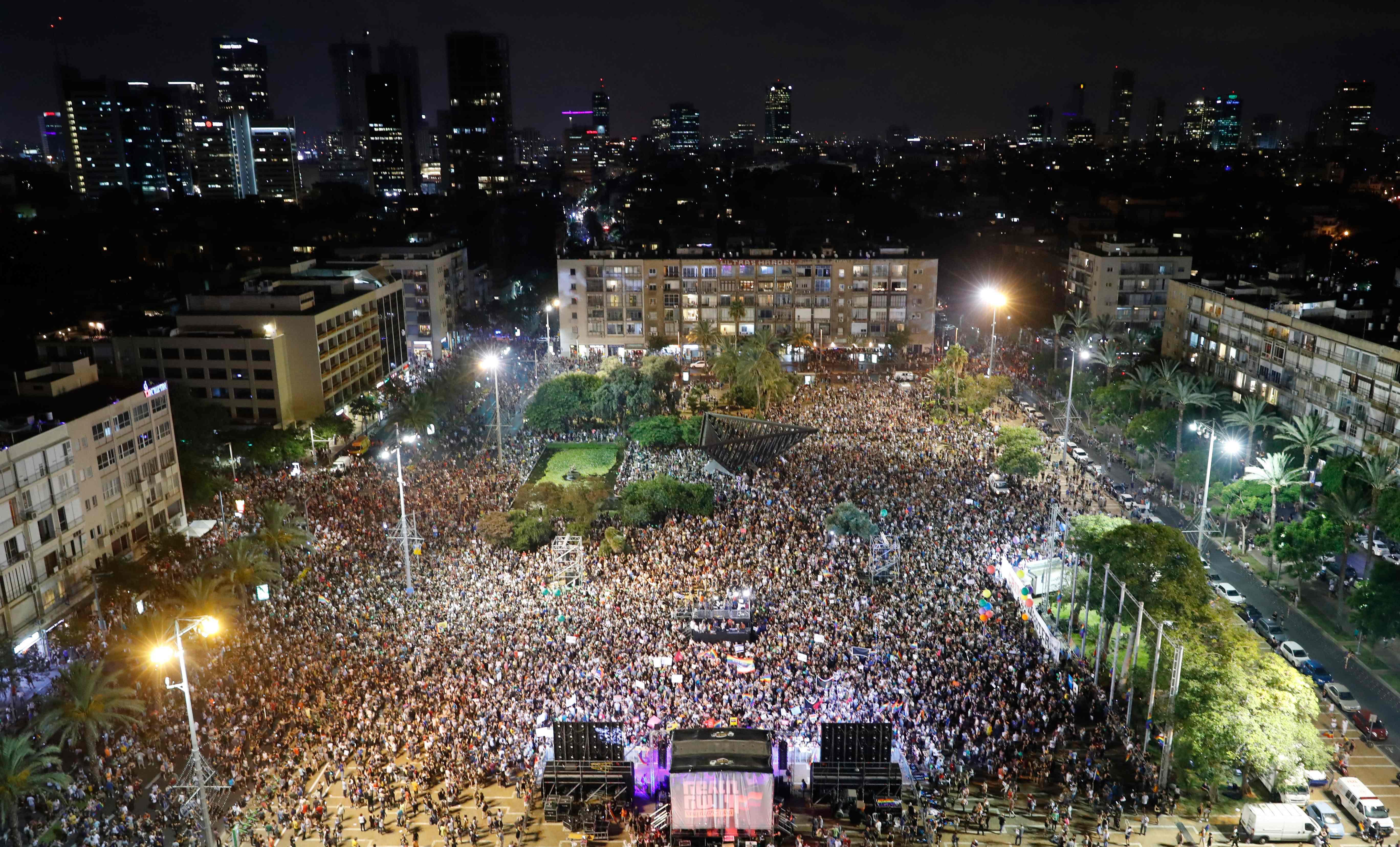 مظاهرات الإسرائيليين