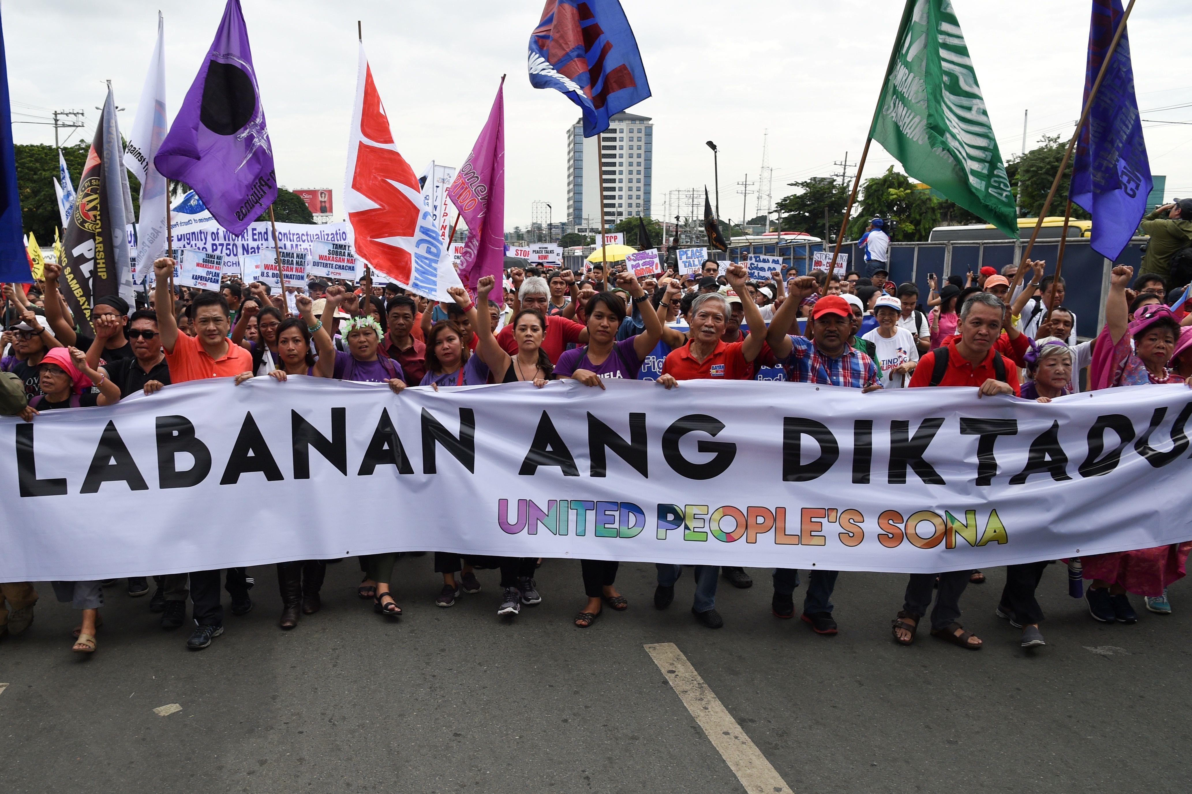 مسيرة حاشدة فى الفلبين