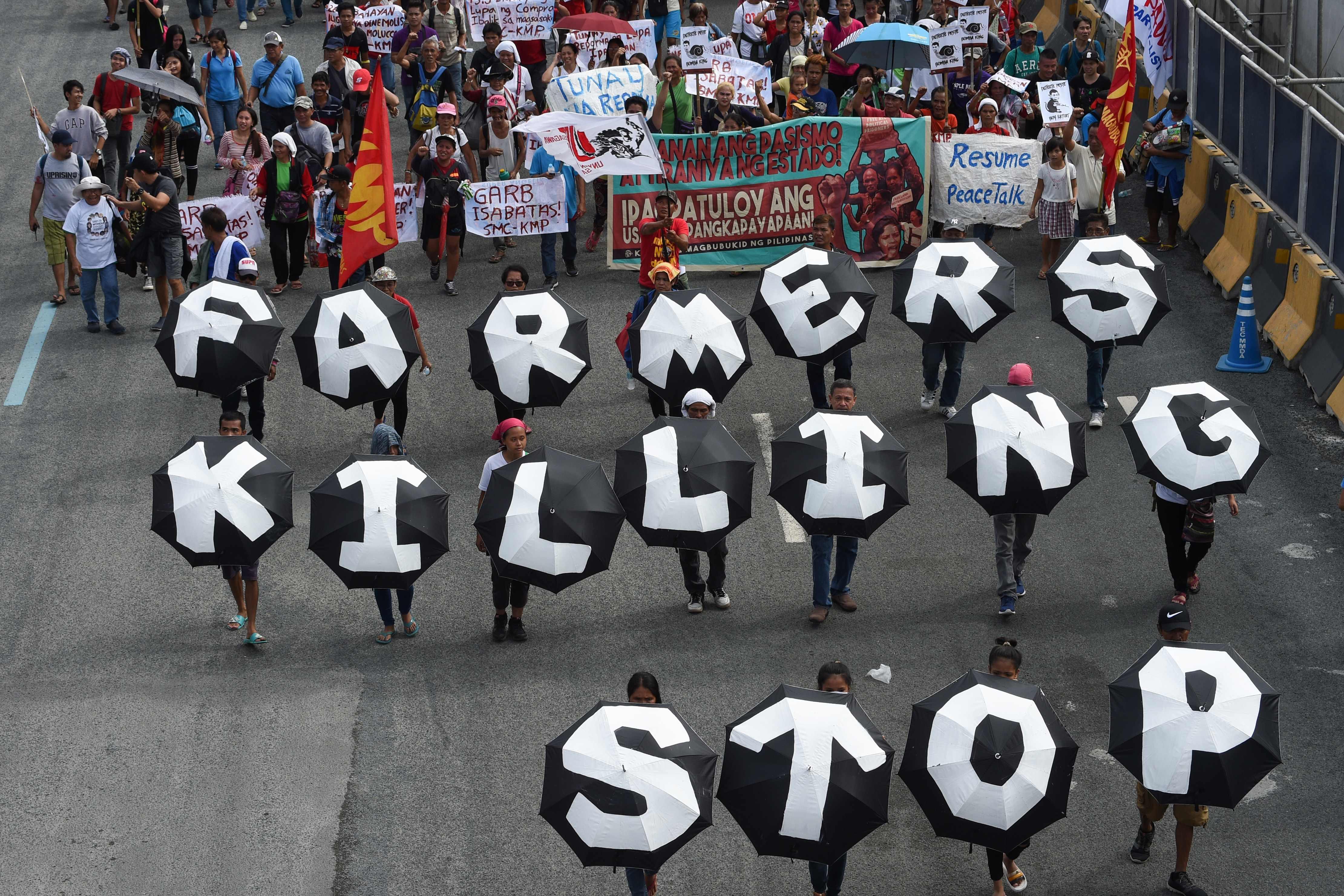 جانب من الاحتجاجات فى الفلبين