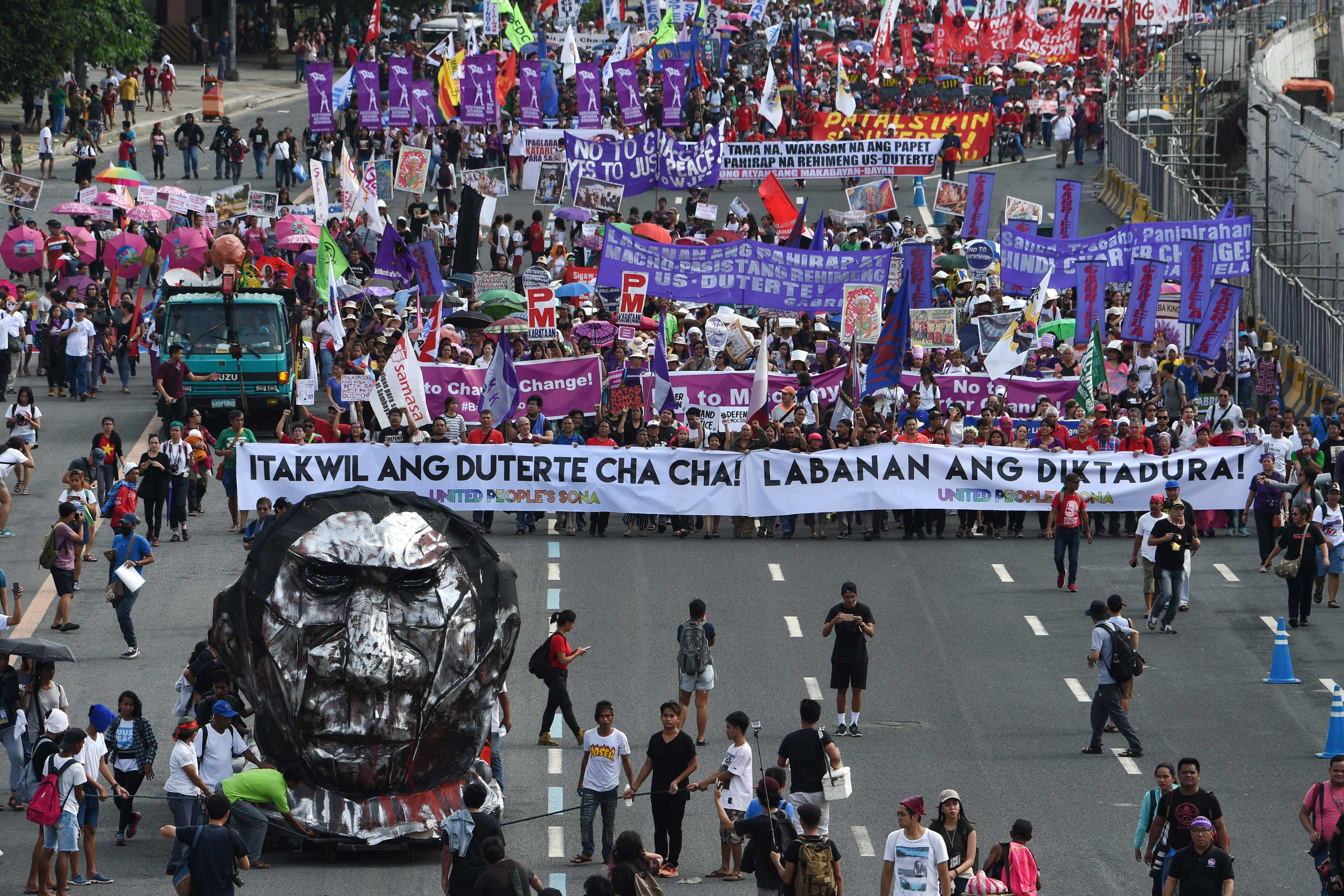 احتجاجات فى الفلبين