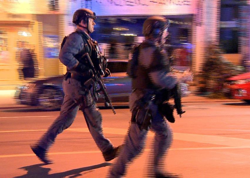 القوات تنتشر في محيط الحادث