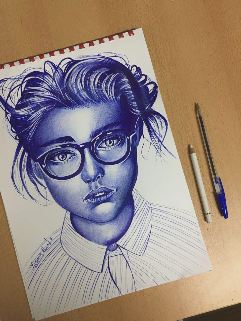 رسم بالقلم الجاف