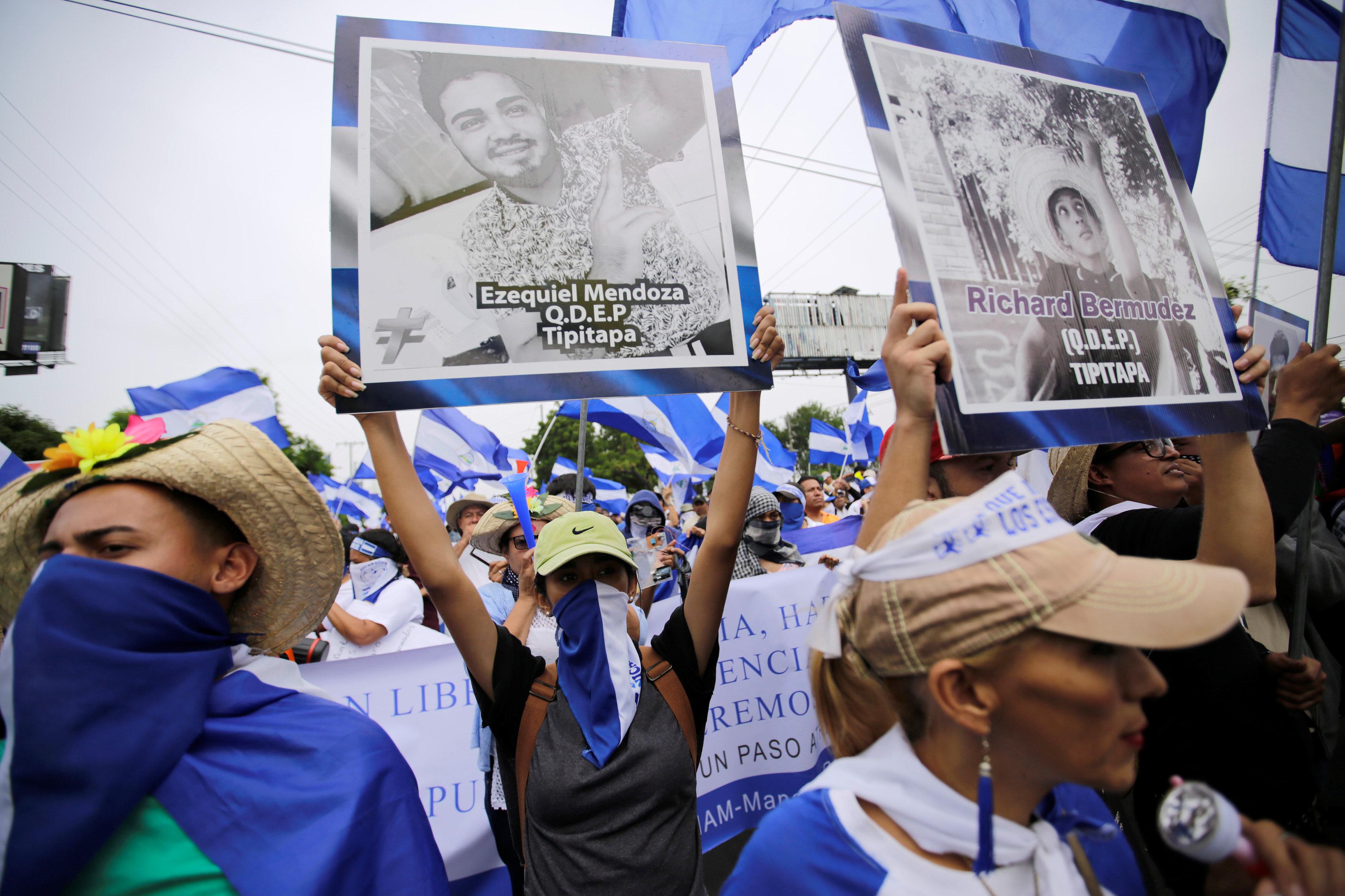 جانب من مظاهرات نيكاراجوا